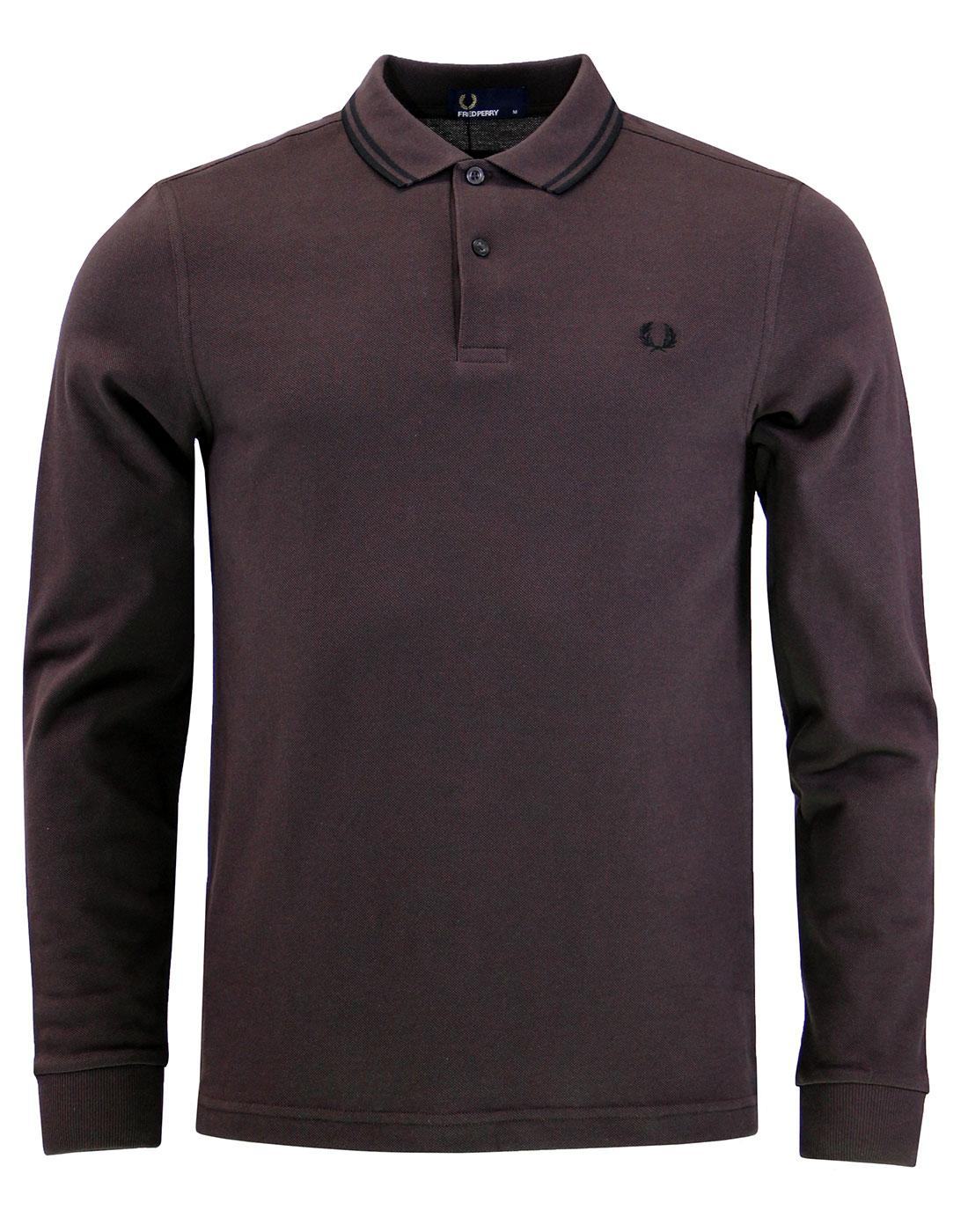 FRED PERRY M3630 long sleeve twin tipped polo liqu