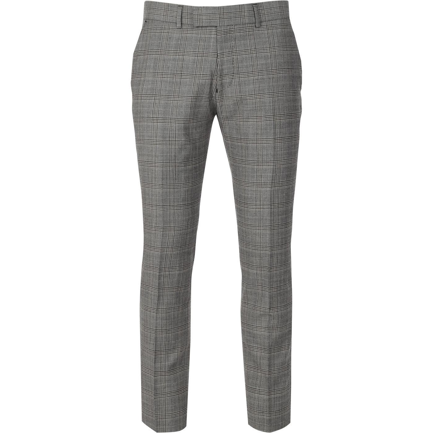 MADCAP ENGLAND 60s Mod Pow Check Suit Trousers (G)