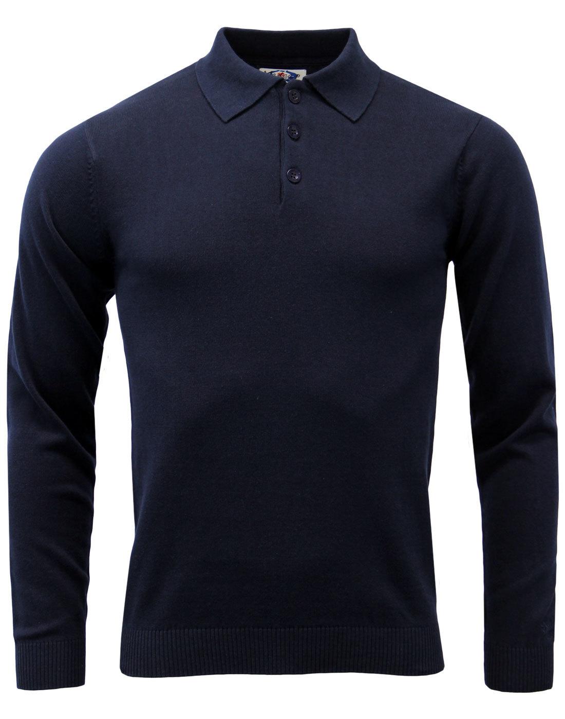 Brando MADCAP ENGLAND 1960s Mod Knitted Polo (N)