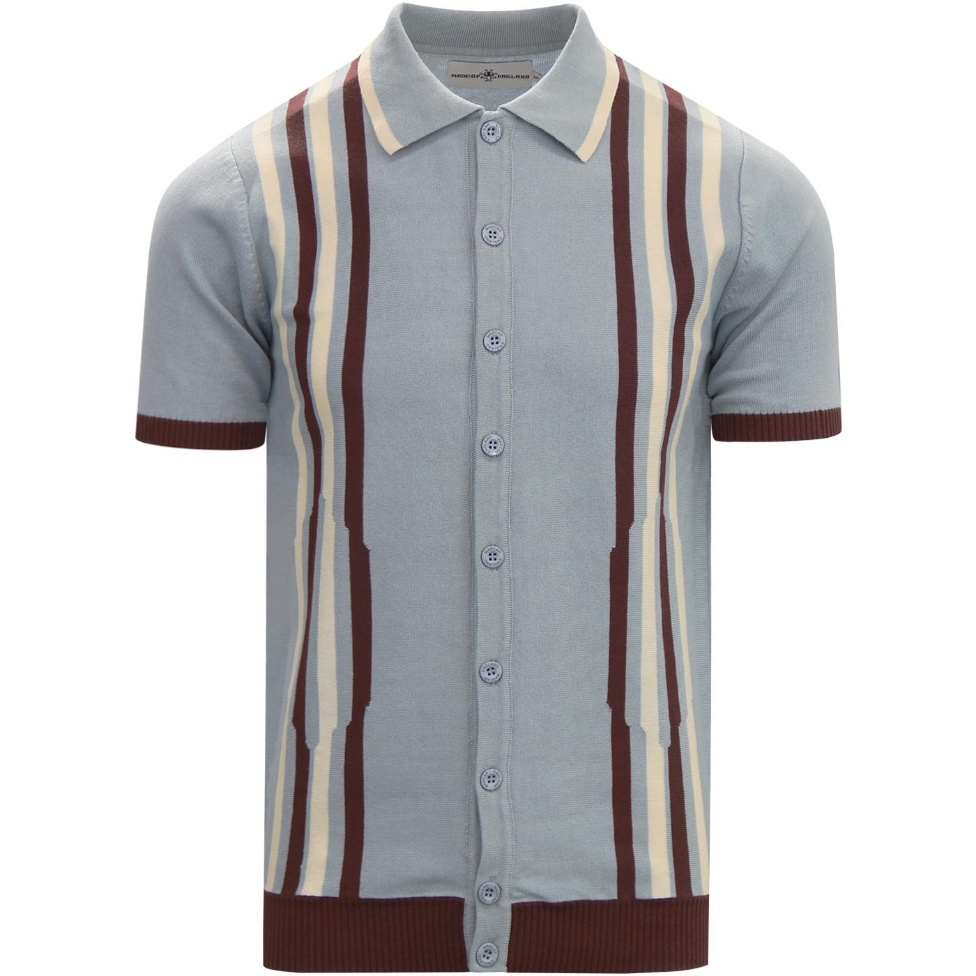 Shockwave MADCAP ENGLAND Mod Stripe Knit Polo Top