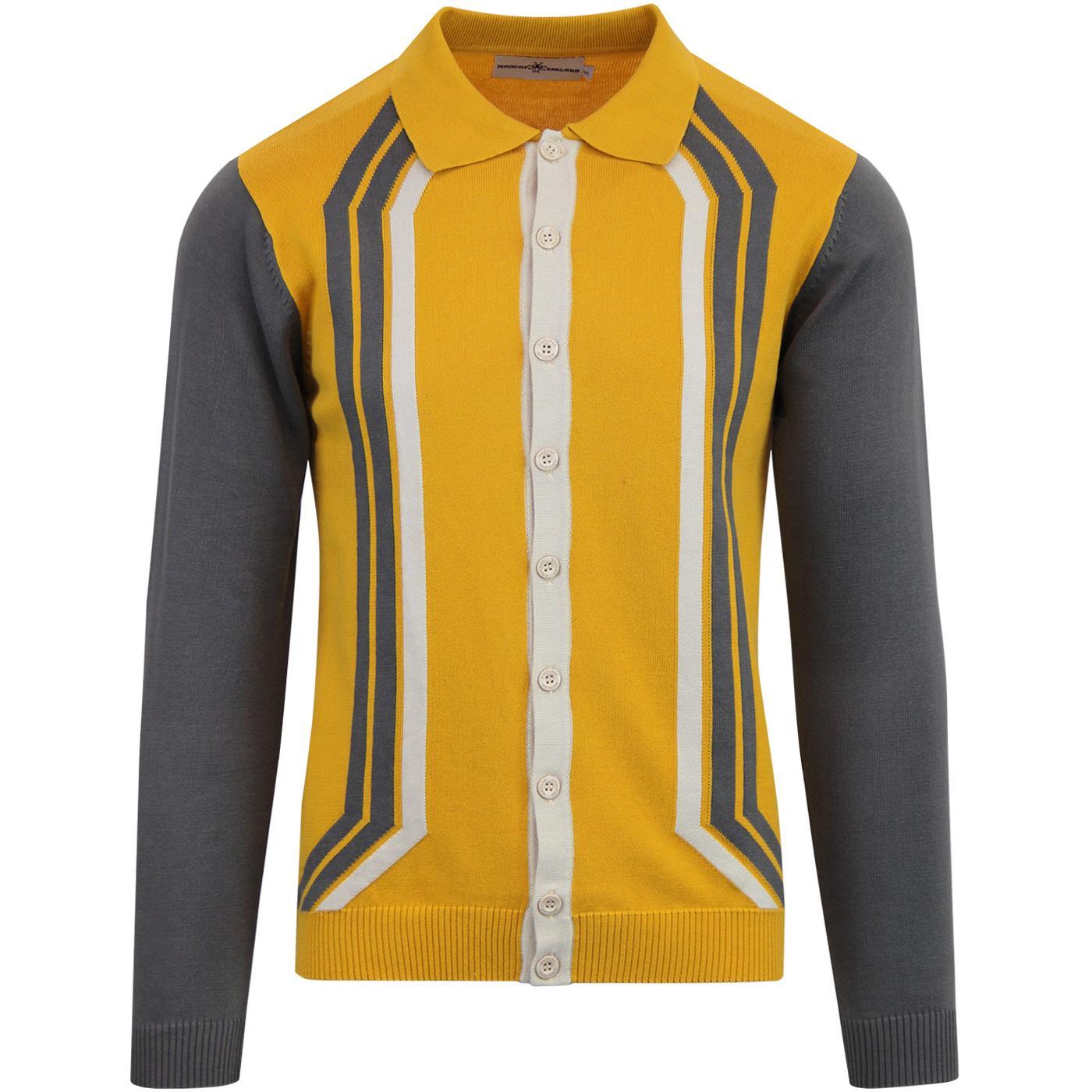 Sunny MADCAP ENGLAND Mod Stripe Knit Polo Cardigan