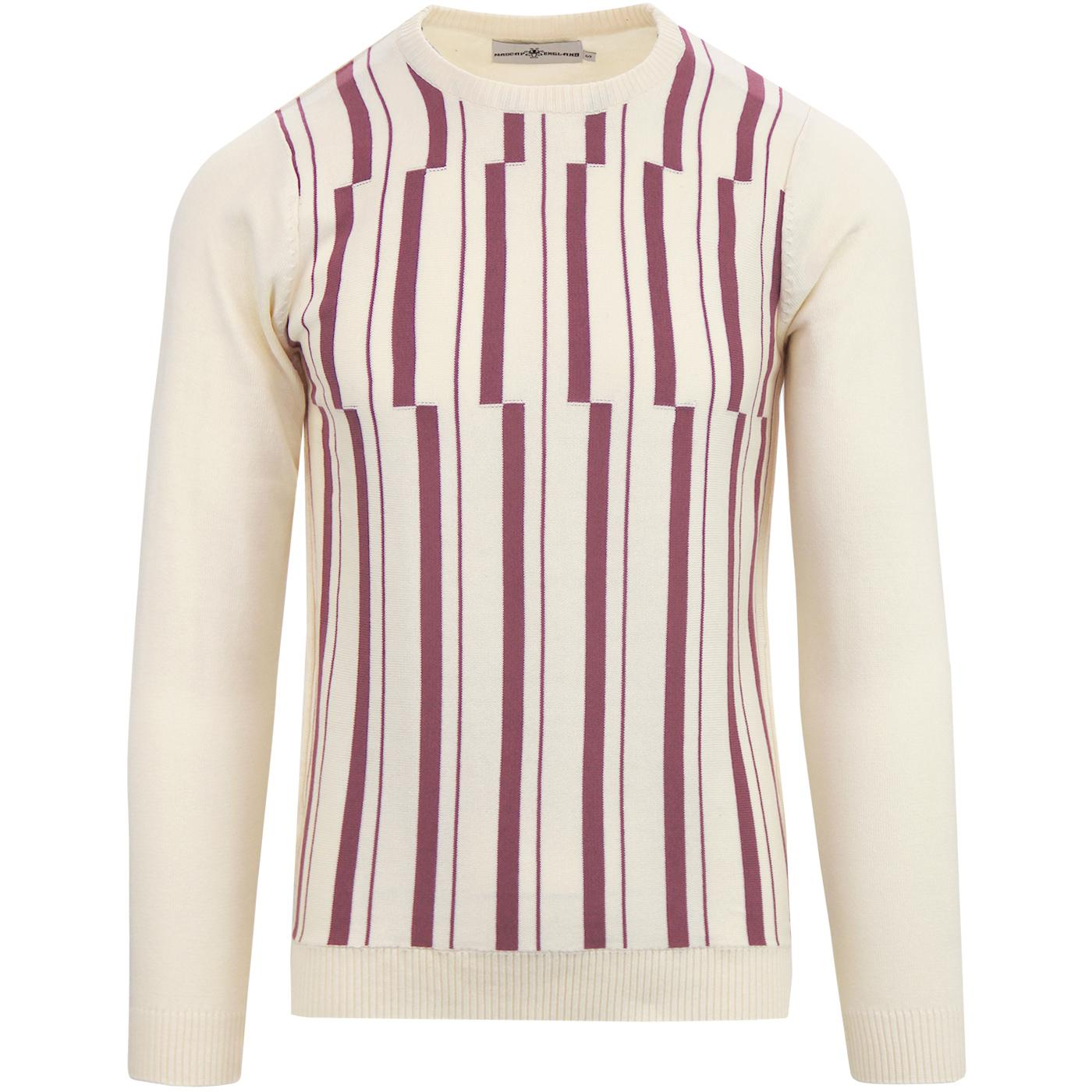 Amadeus MADCAP ENGLAND Abstract Stripe Knit Jumper