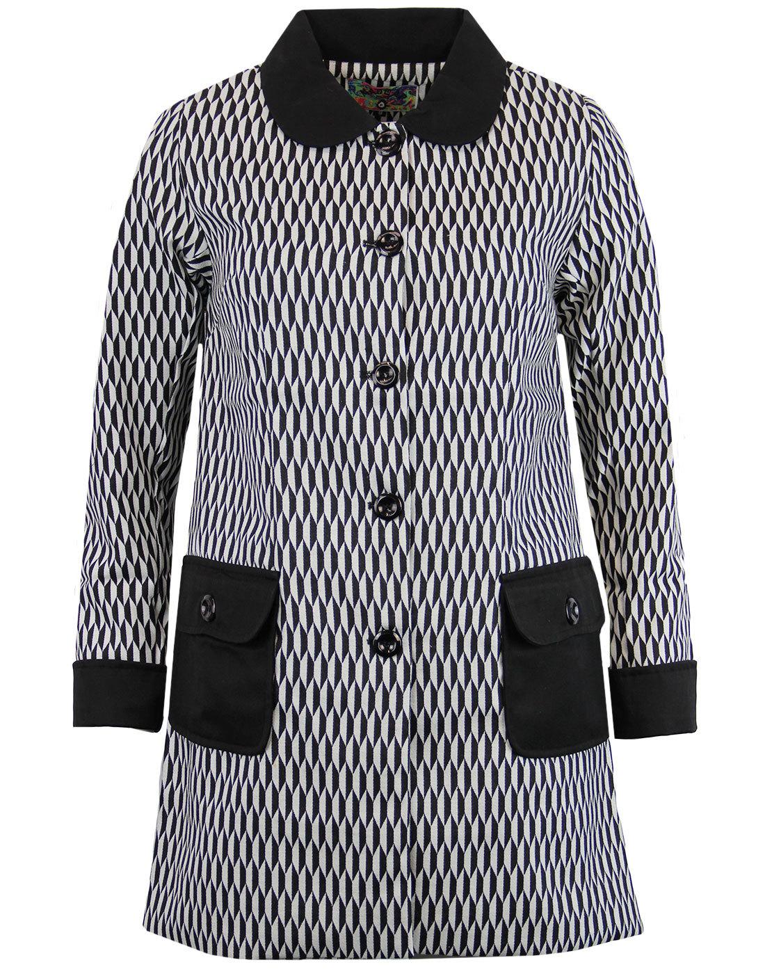 Karina MADCAP ENGLAND 60s Mod Op Art A-Line Coat