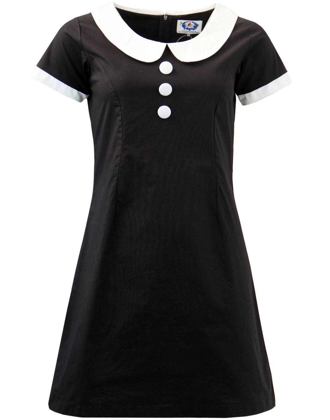 Domino Madcap England Mod Peter Pan Collar Dress