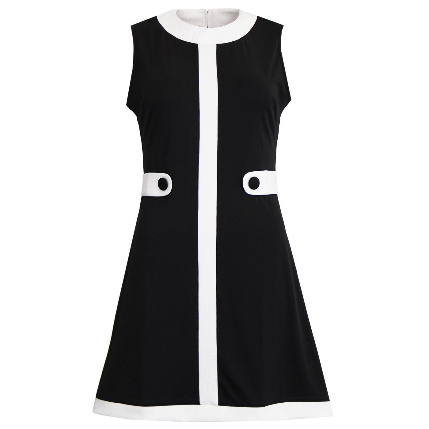 À Go-go MADCAP ENGLAND 60s Mod Centre Stripe Dress