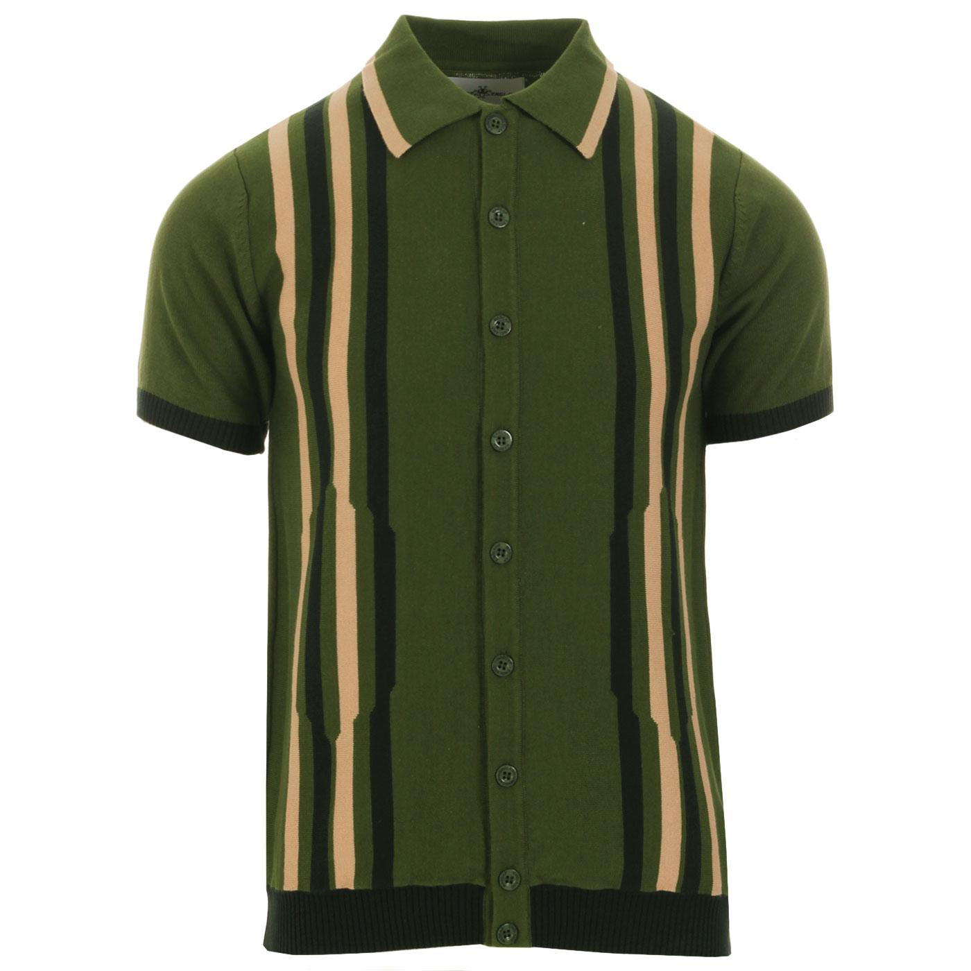 Shockwave MADCAP ENGLAND Mod Stripe Knit Polo (CG)
