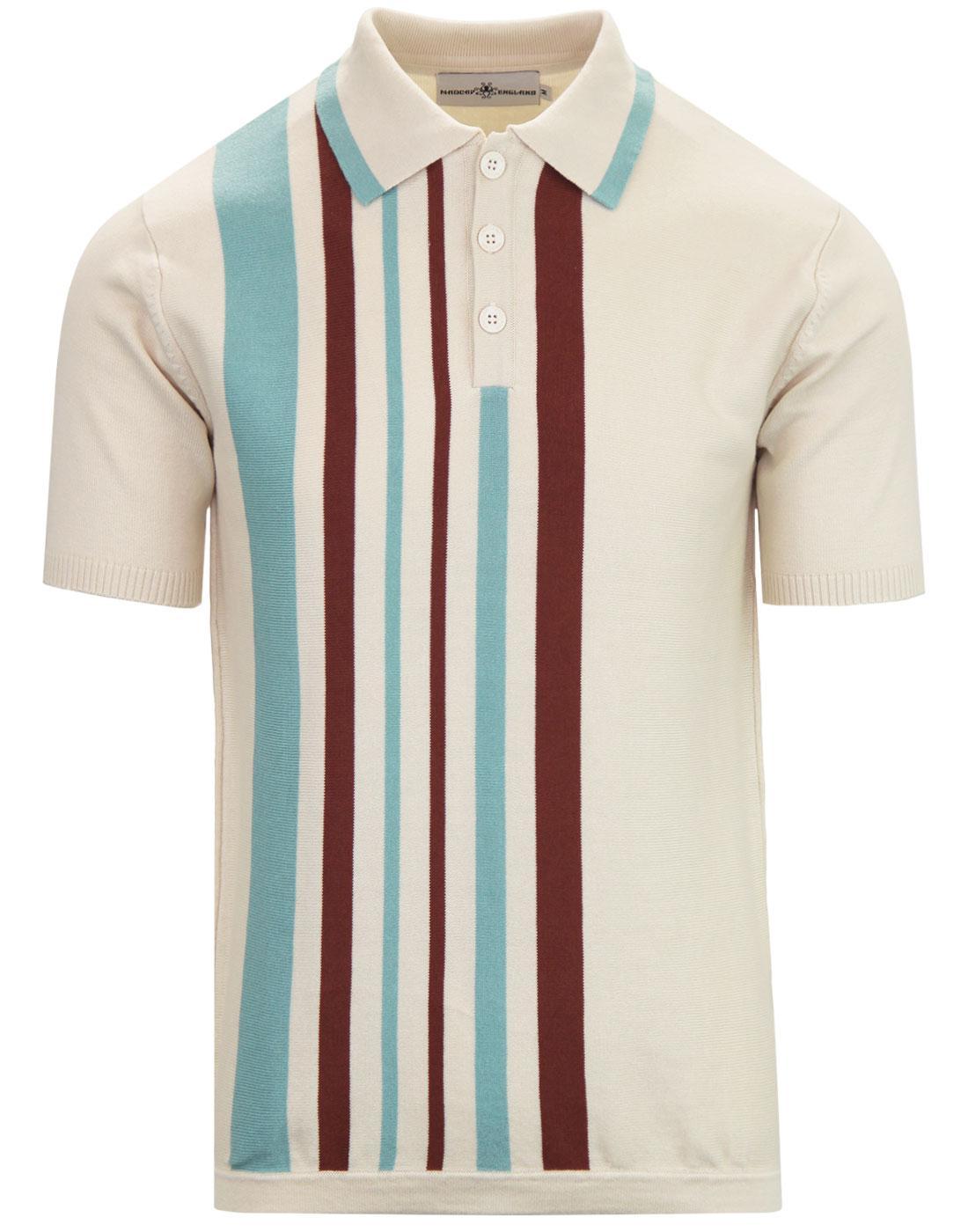 Bauhaus MADCAP ENGLAND Mod Stripe Knit Polo Shirt