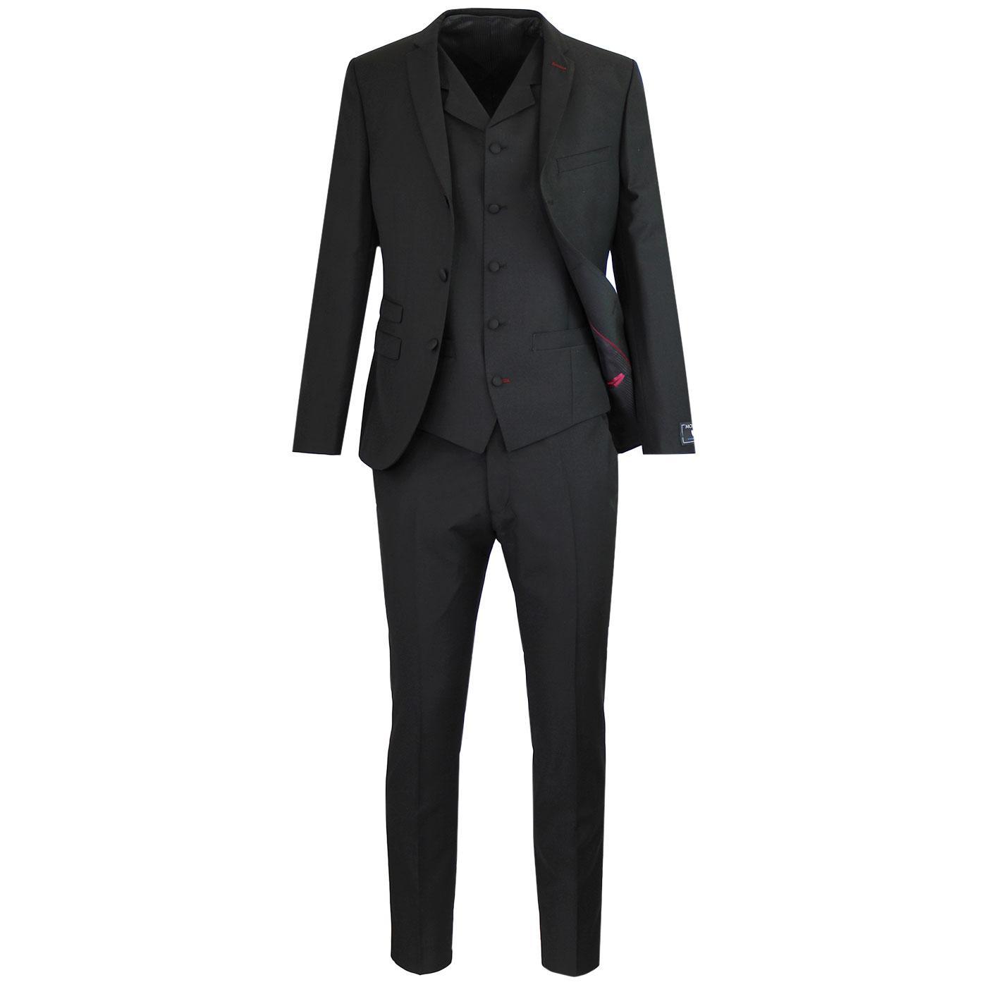 MADCAP ENGLAND 60s Mod Mohair Suit in Black