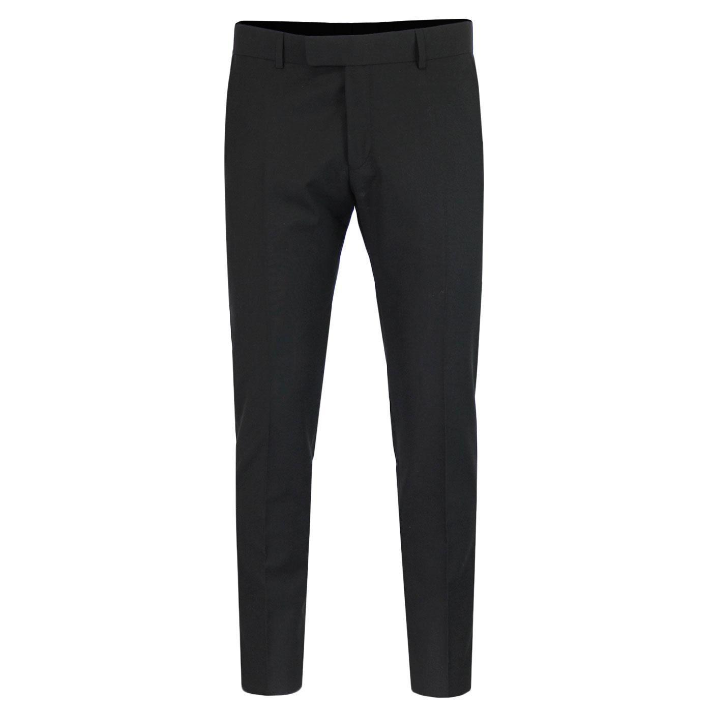 MADCAP ENGLAND Mod Mohair Suit Trousers (Black)