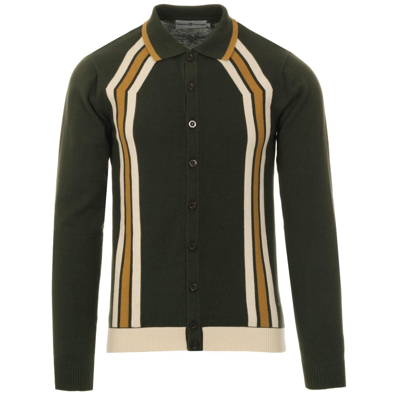 Blast MADCAP ENGLAND Mod Stripe Polo Cardigan (R)