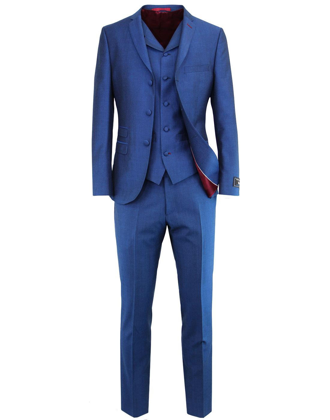 MADCAP ENGLAND 60s Mod Mohair Tonic Suit in Blue