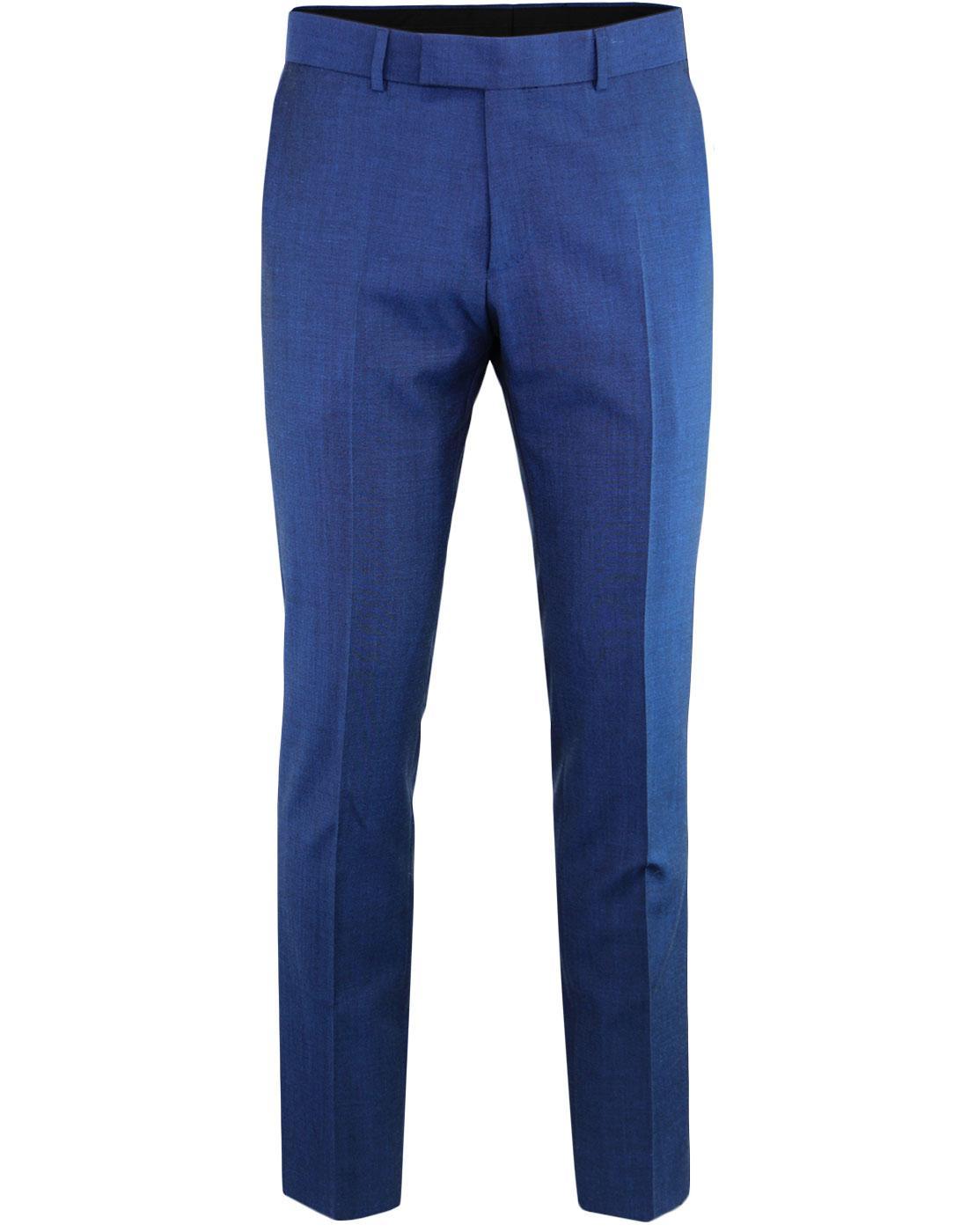 MADCAP ENGLAND Mod Mohair Tonic Suit Trousers BLUE