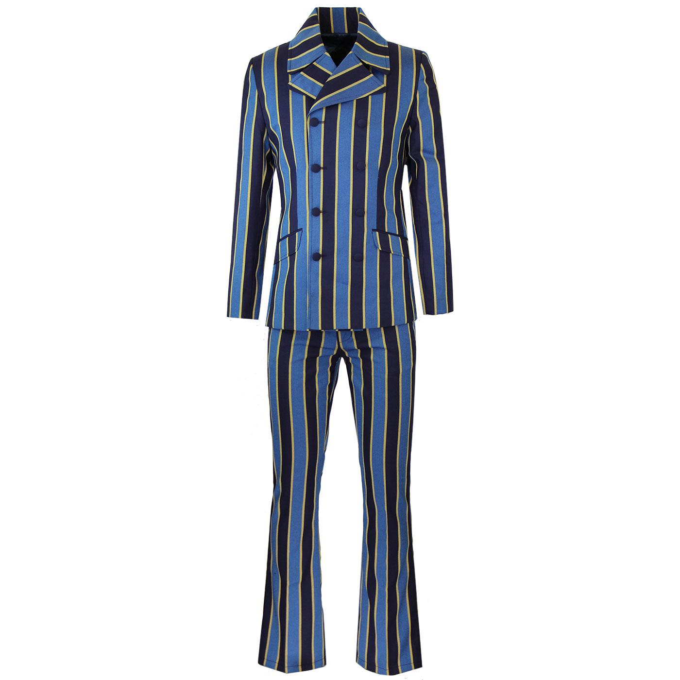 Backbeat MADCAP ENGLAND Mod DB Flared Suit in Blue