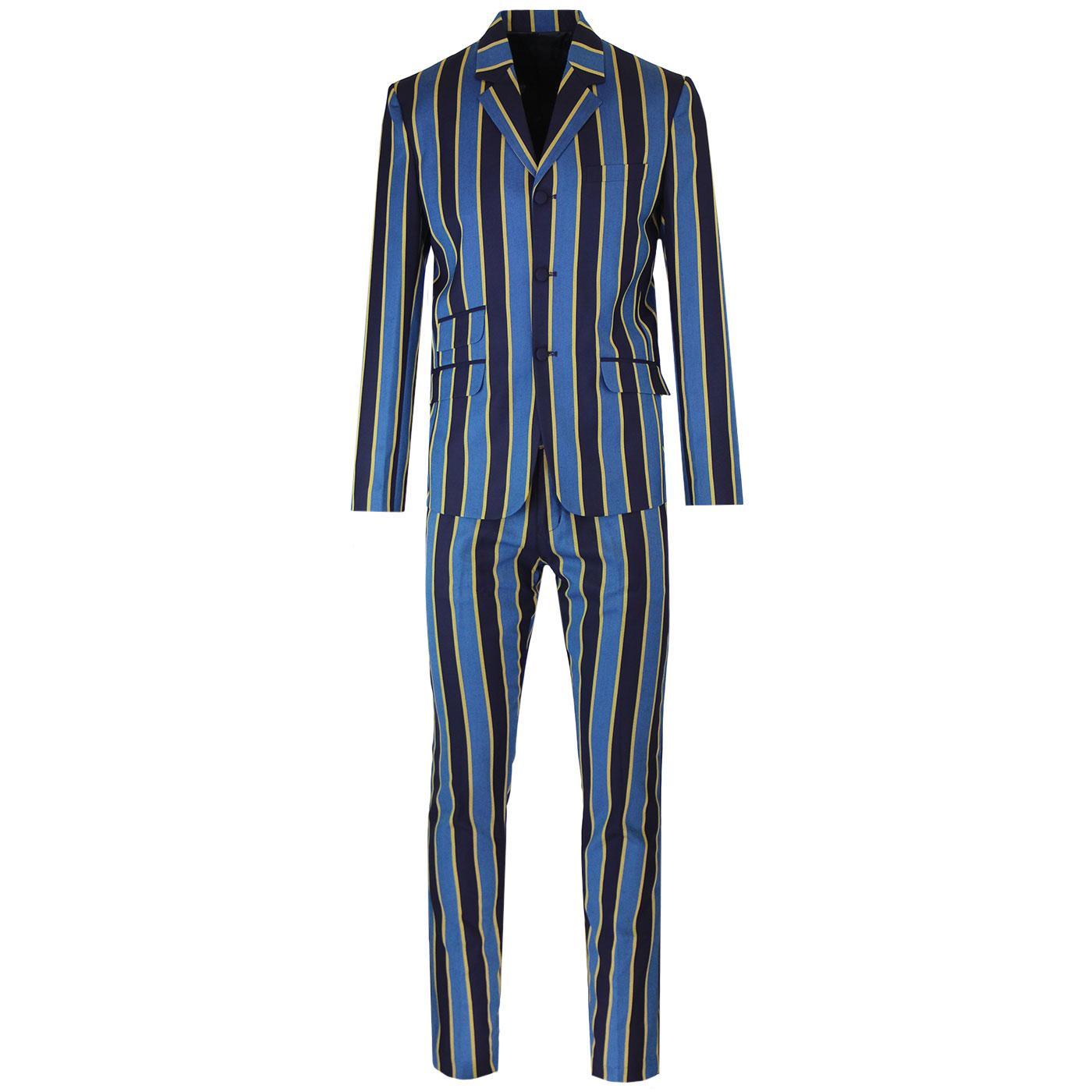 Offbeat MADCAP ENGLAND Mod Striped Slim Leg Suit