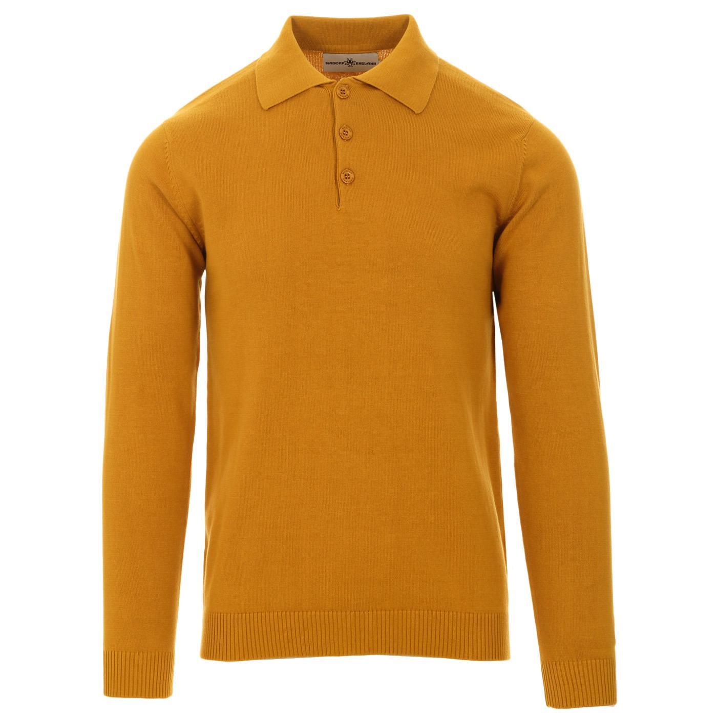 Brando MADCAP ENGLAND 1960s Mod Knitted Polo (HG)