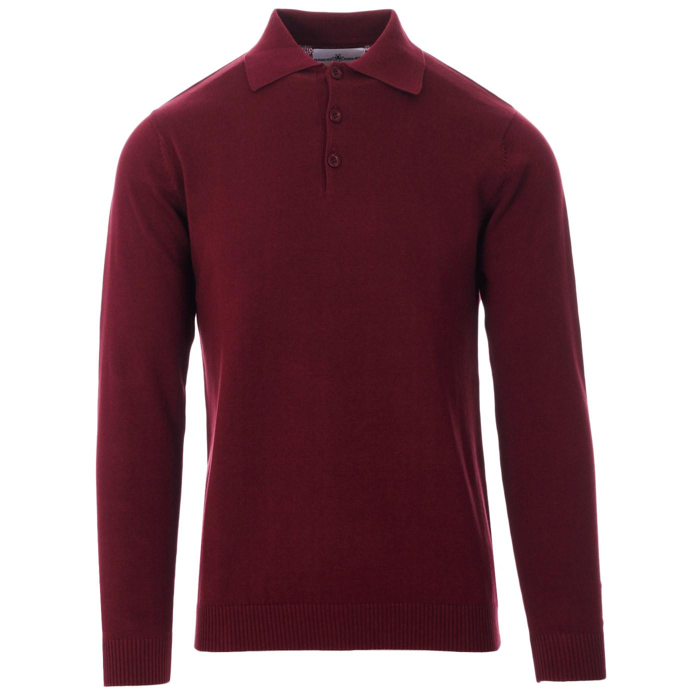 Brando MADCAP ENGLAND 1960s Mod Knitted Polo (Z)