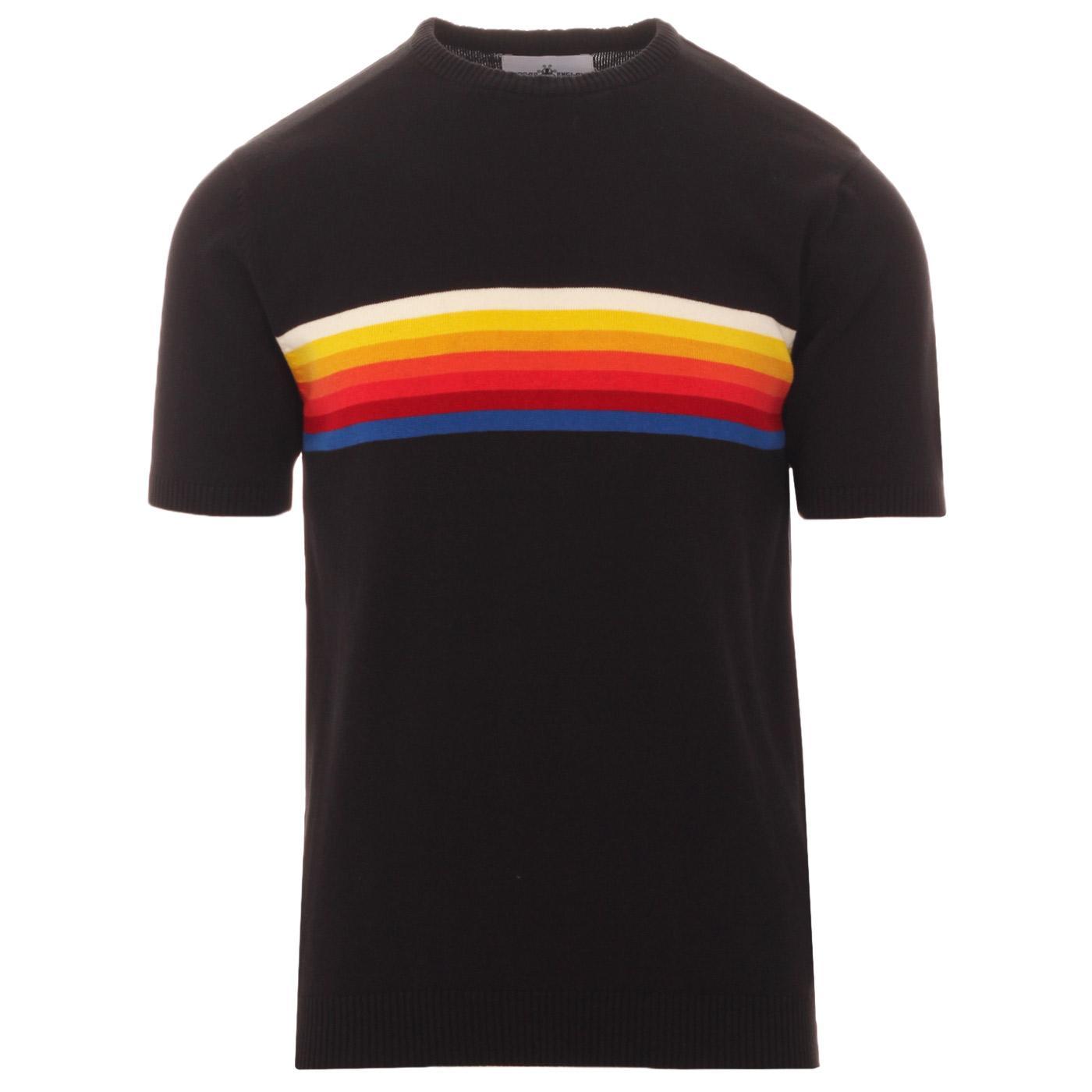Britpop MADCAP ENGLAND Rainbow Stripe Knit Tee (B)