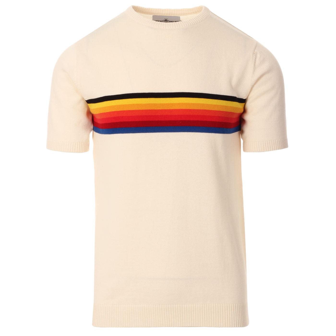 Britpop MADCAP ENGLAND Rainbow Stripe Knit Tee (E)