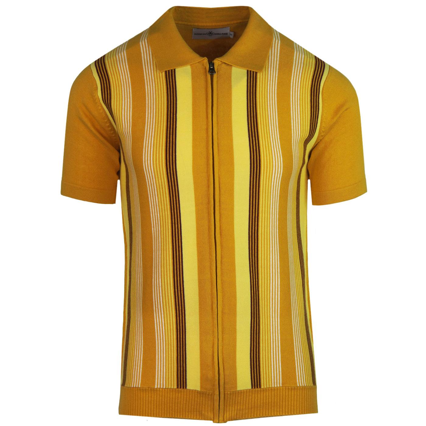 Capitol MADCAP ENGLAND Mod Stripe Zip Polo (GG)