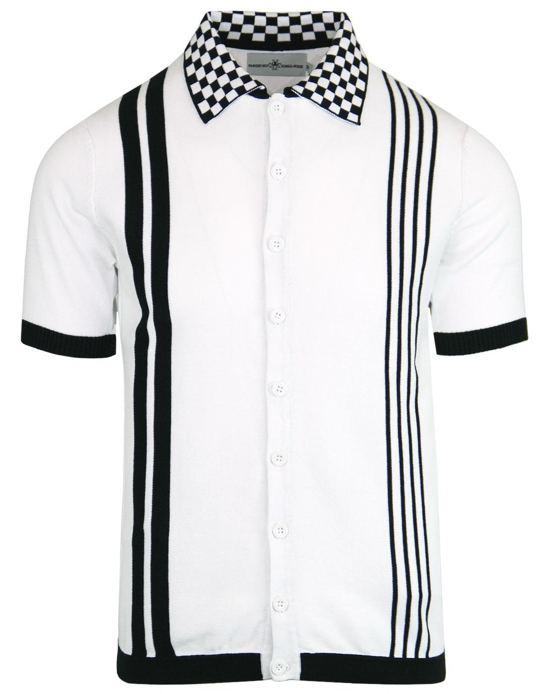 Charlie MADCAP ENGLAND Mod Check Collar Polo Shirt