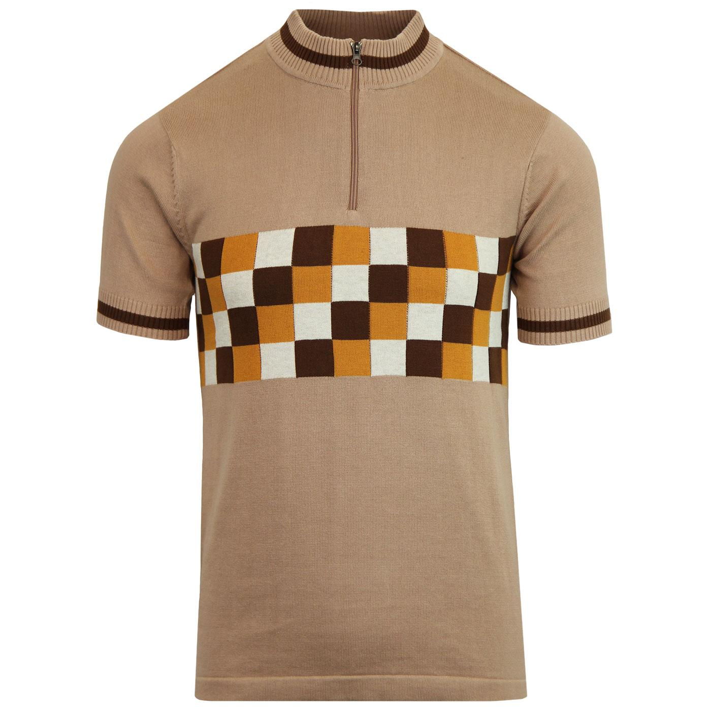 Coppi MADCAP ENGLAND Mod Checkerboard Cycling Top