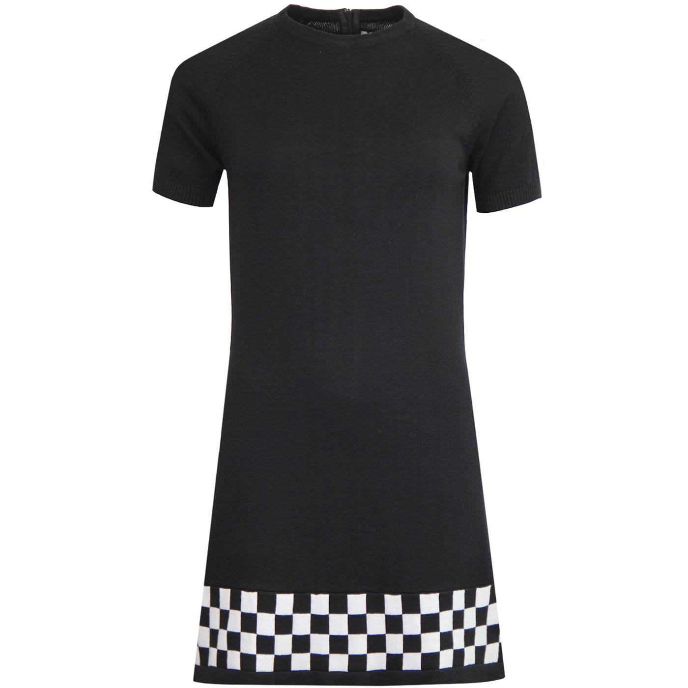 Nicole MADCAP ENGLAND Mod Knit Checkboard Dress