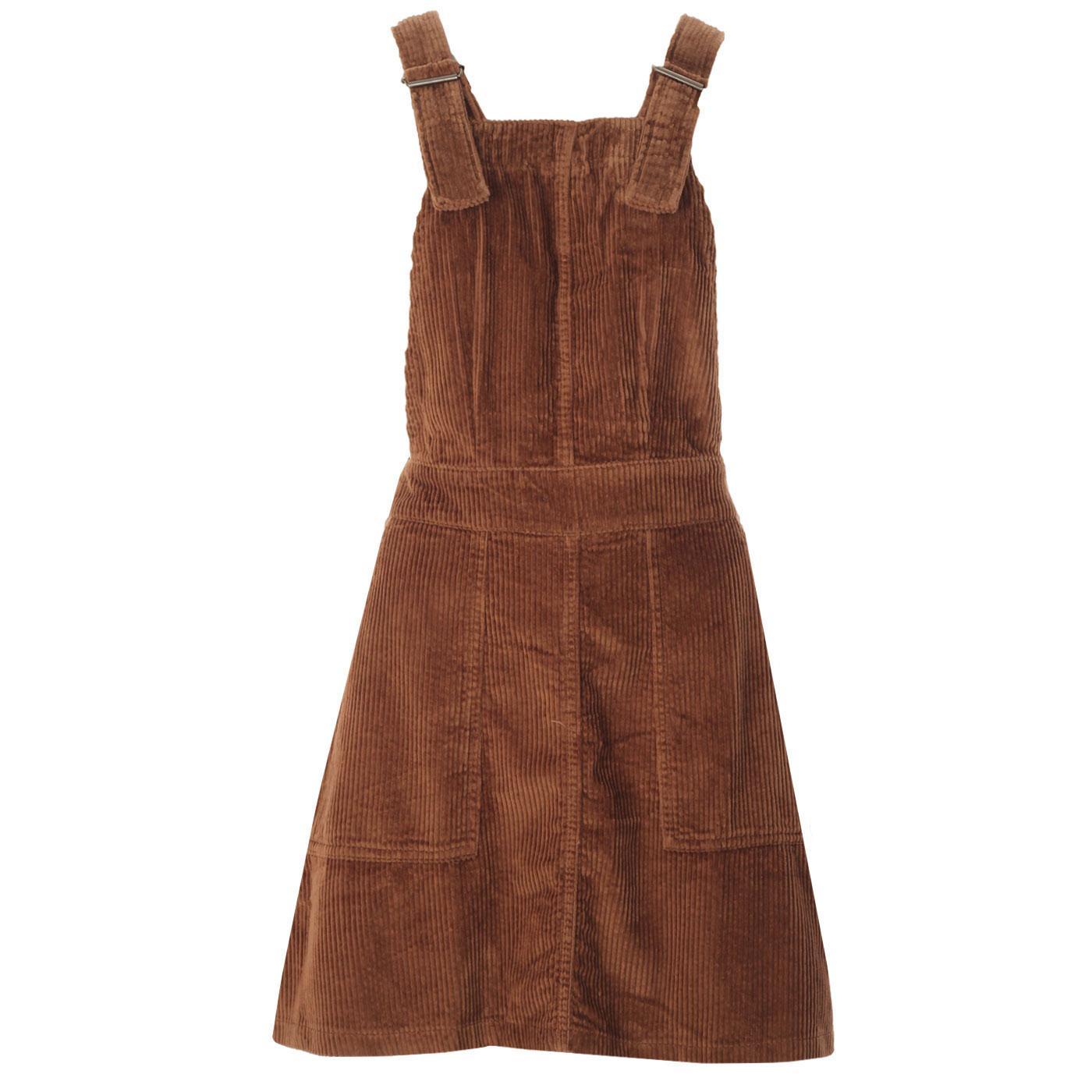 Marlo MADCAP ENGLAND 1960s Cord Pinafore Dress (T)