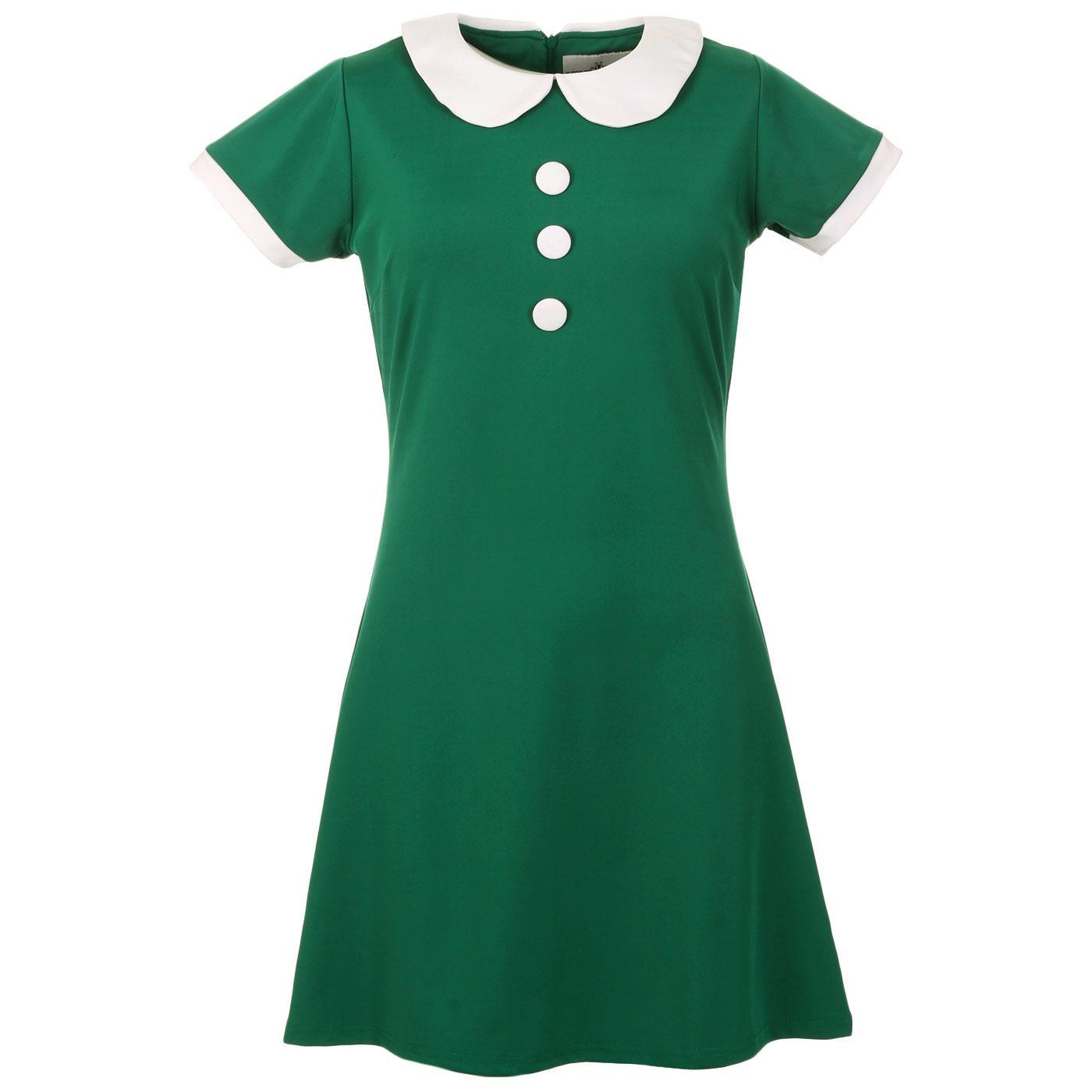 Dollierocker MADCAP ENGLAND 60s Mod Dress (Teal)