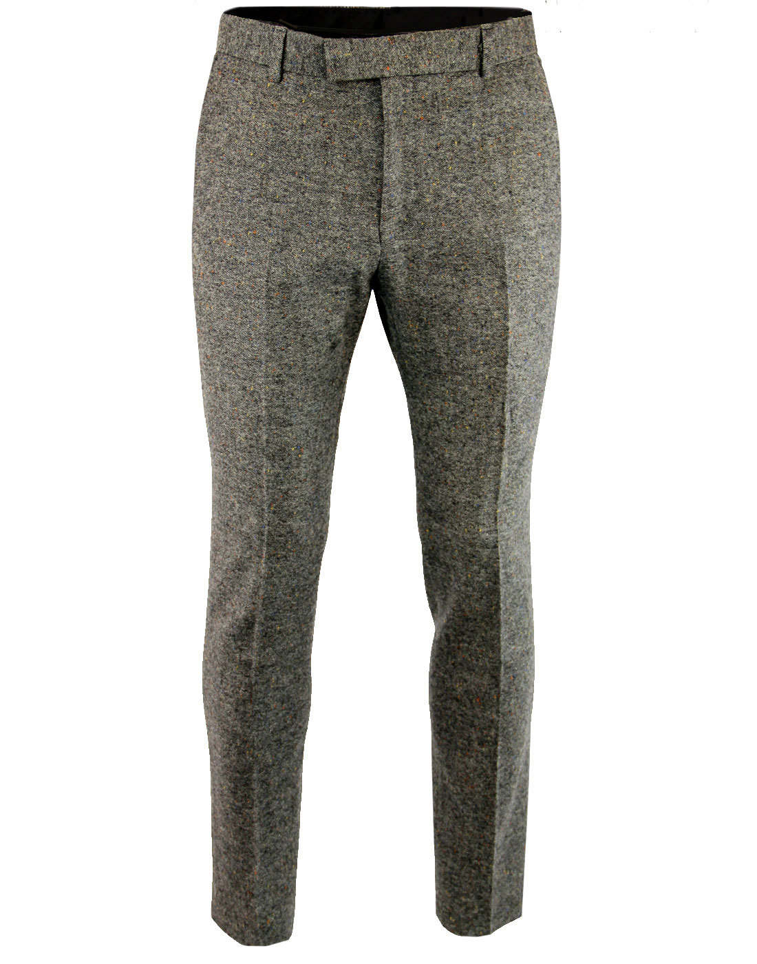 Madcap England 60s Mod Slim Donegal Suit Trousers