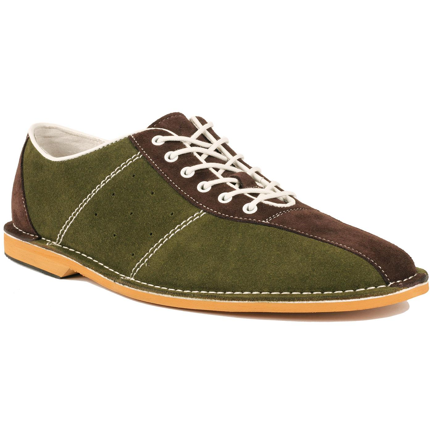 The Dude MADCAP ENGLAND Mod Bowling Shoes (Green)