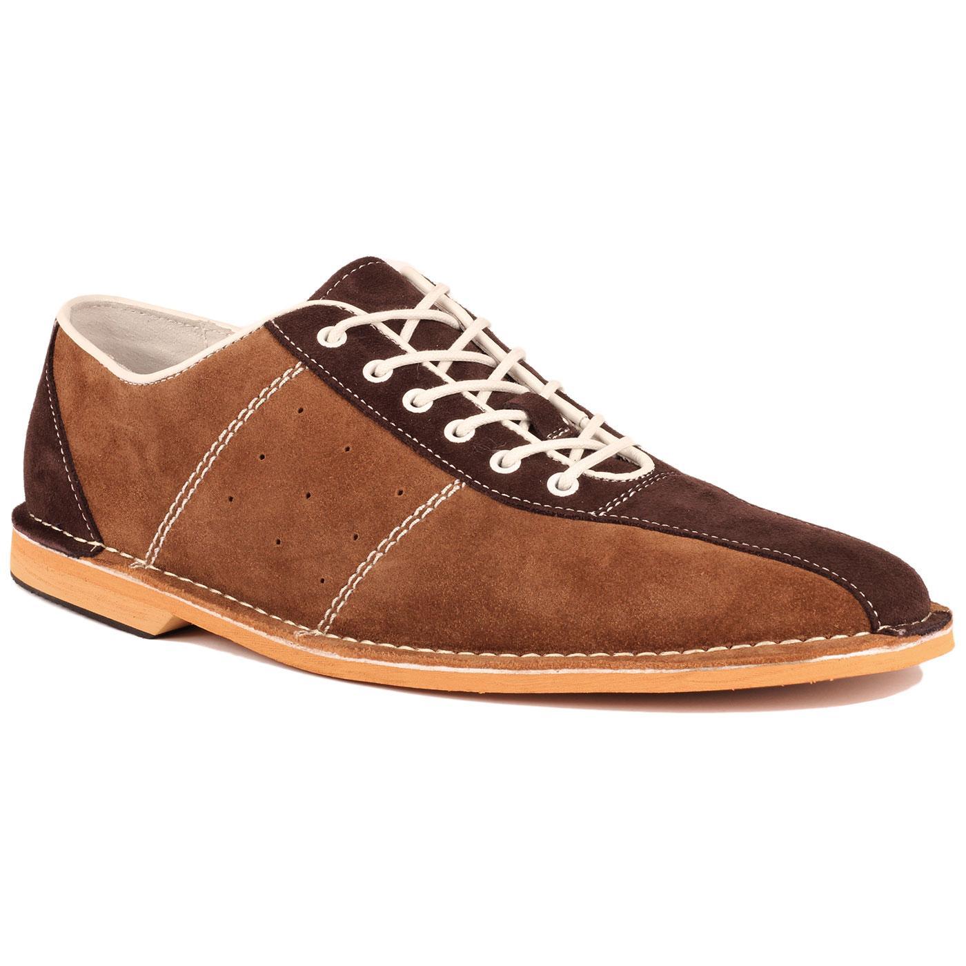 The Dude MADCAP ENGLAND Mod Bowling Shoes (Tan)