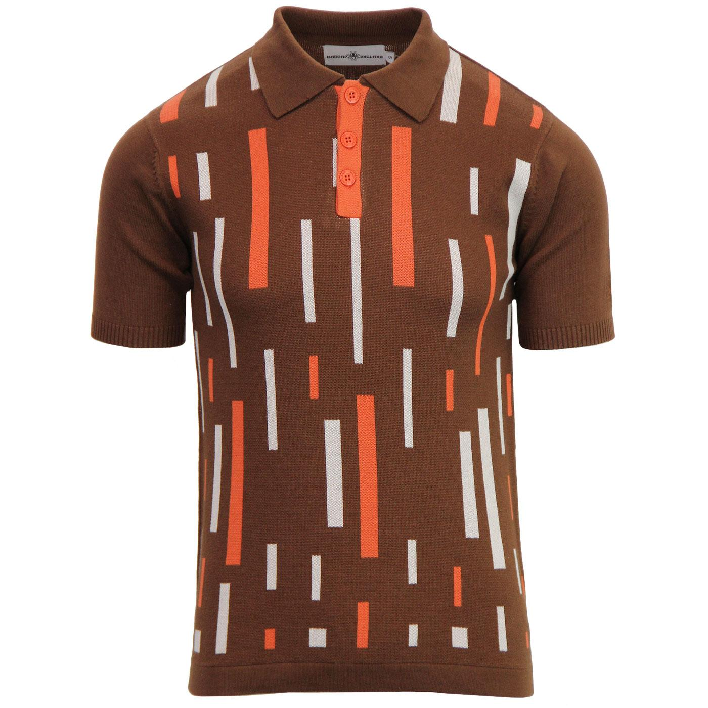 Eames MADCAP ENGLAND Mod Colour Block Polo (Bison)