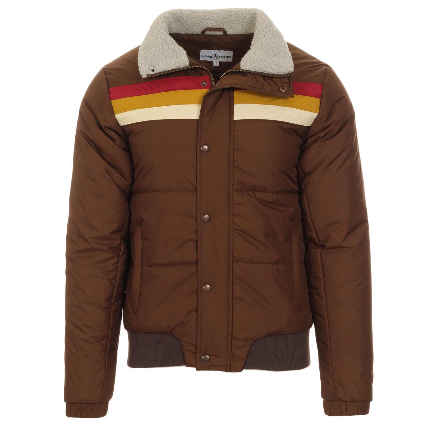 Edge MADCAP ENGLAND Retro Stripe Ski Jacket (CB)