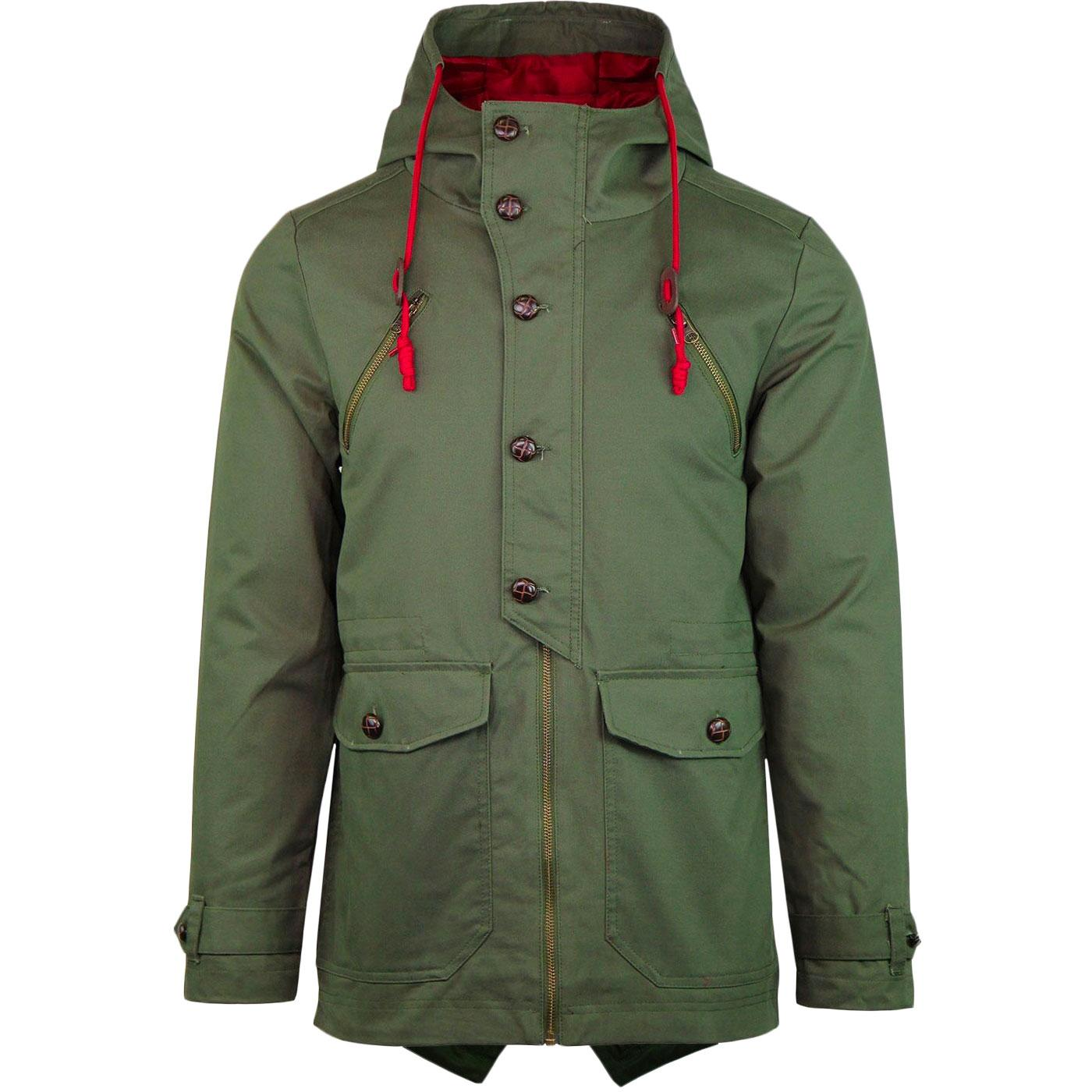 Alfie MADCAP ENGLAND Mod Fishtail Parka Jacket