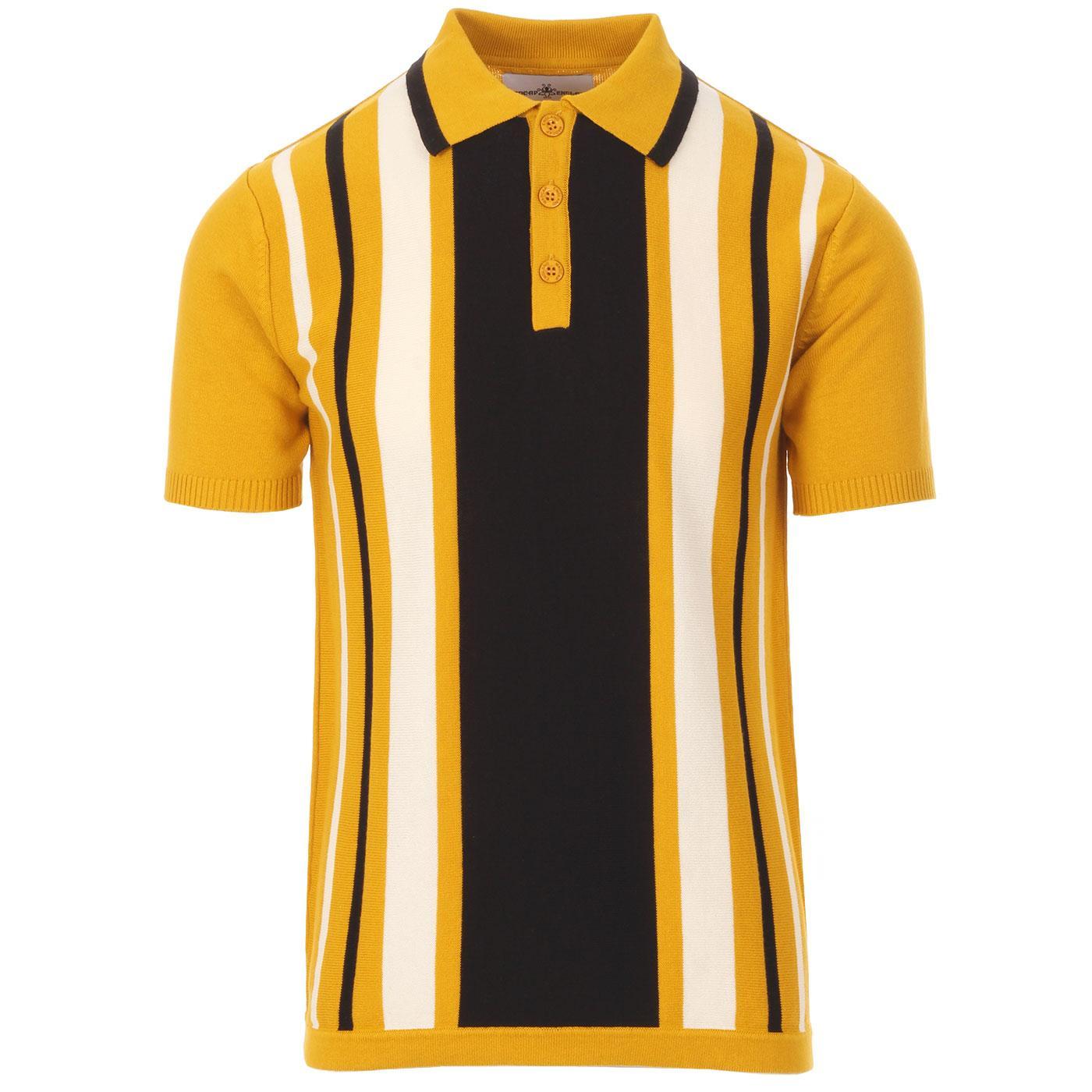 Folklore MADCAP ENGLAND Mod Stripe Knit Polo (AW)
