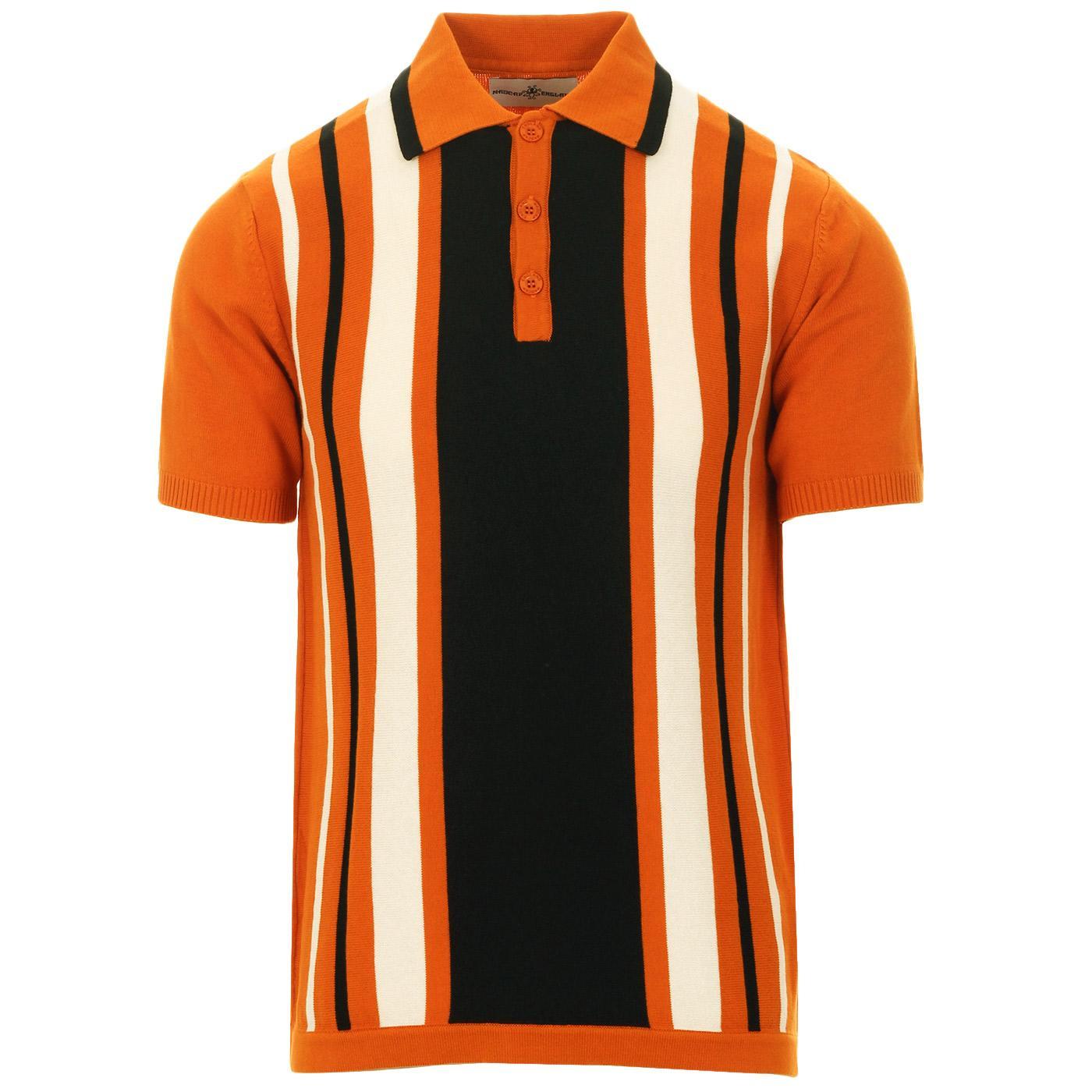 Folklore MADCAP ENGLAND Mod Stripe Knit Polo (MO)