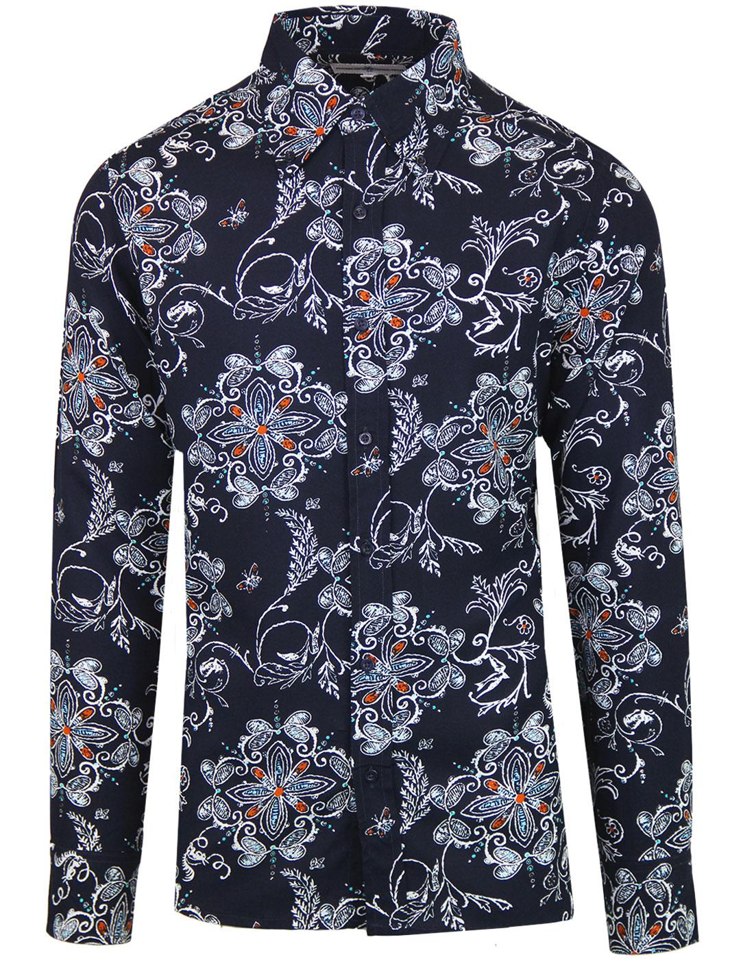 Garageflower MADCAP ENGLAND Mod Rayon Floral Shirt