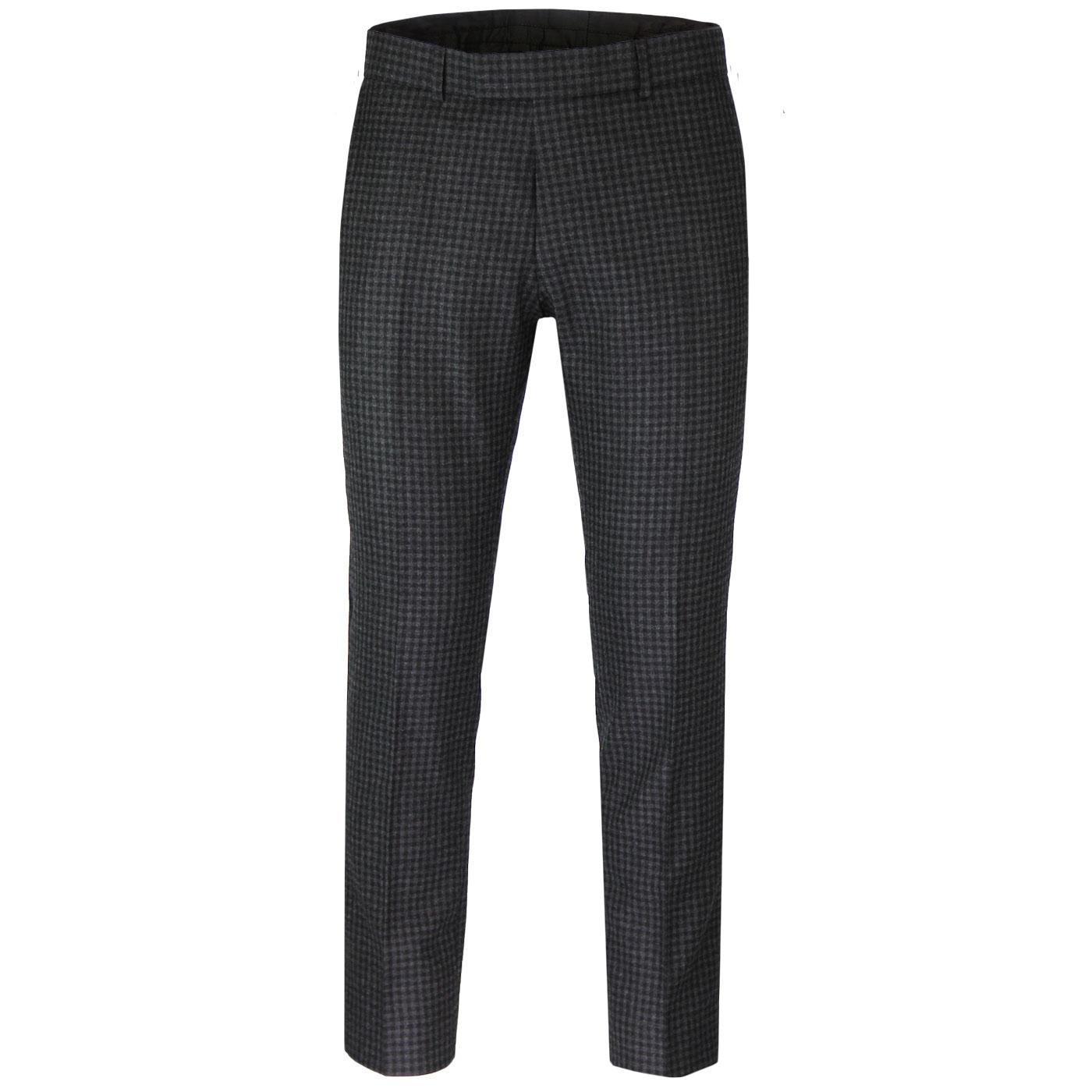 MADCAP ENGLAND 60s Mod Gingham Check Suit Trousers