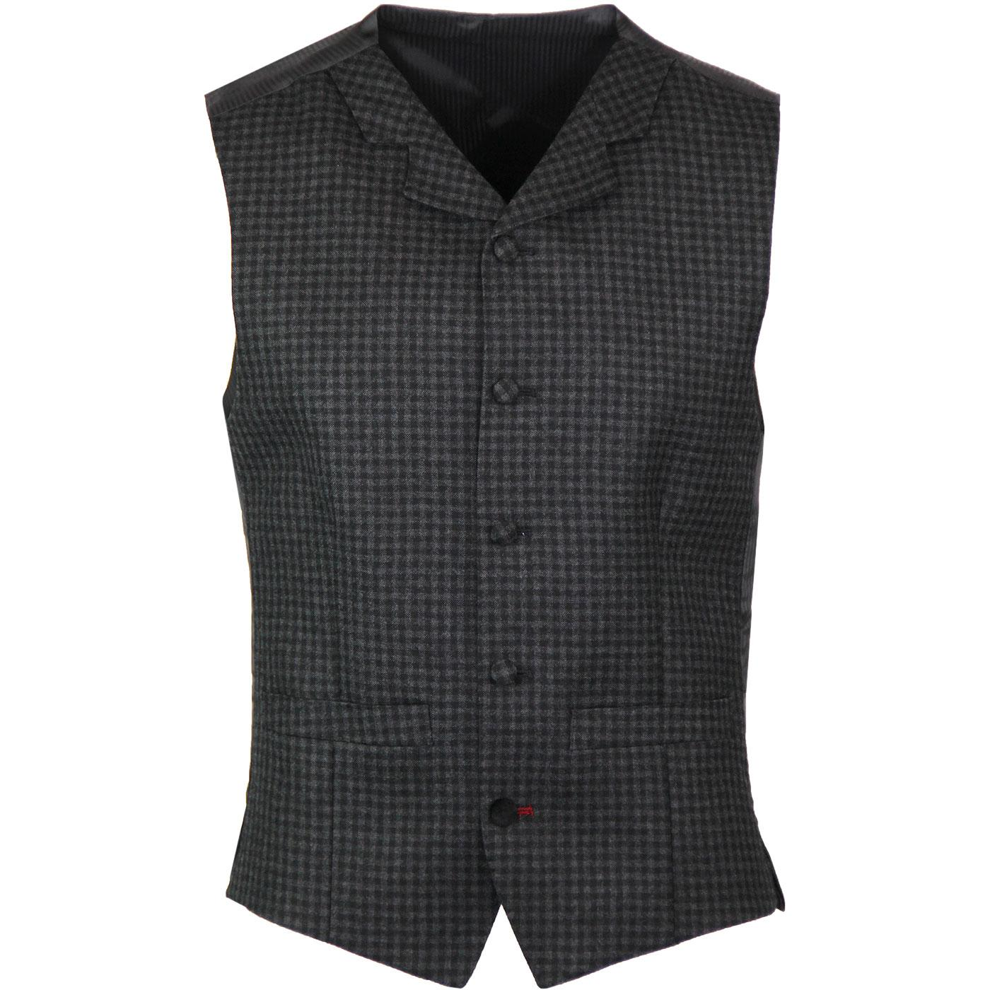 MADCAP ENGLAND Gingham High Fasten Lapel Waistcoat