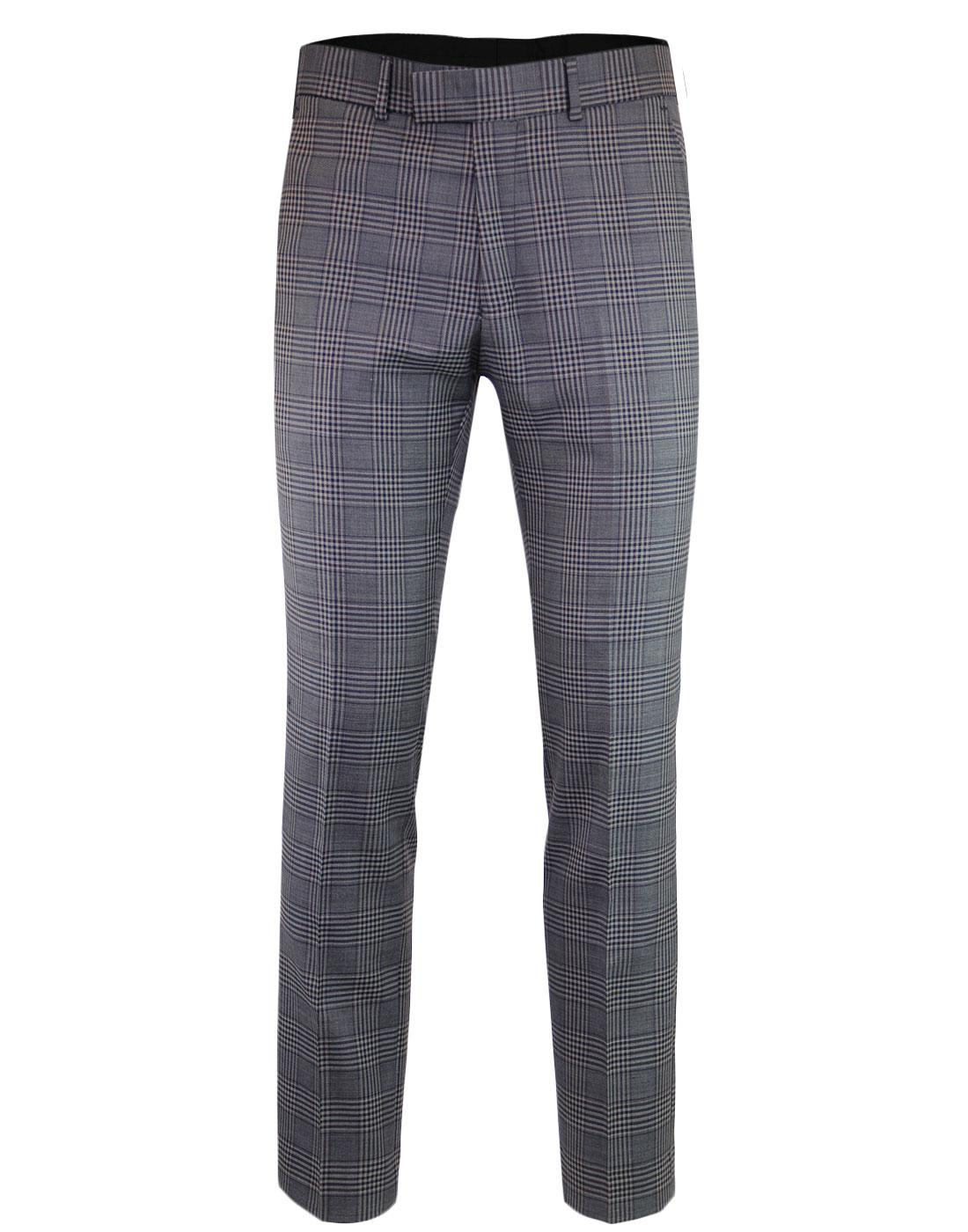 MADCAP ENGLAND POW Check Mod Slim Suit Trousers G