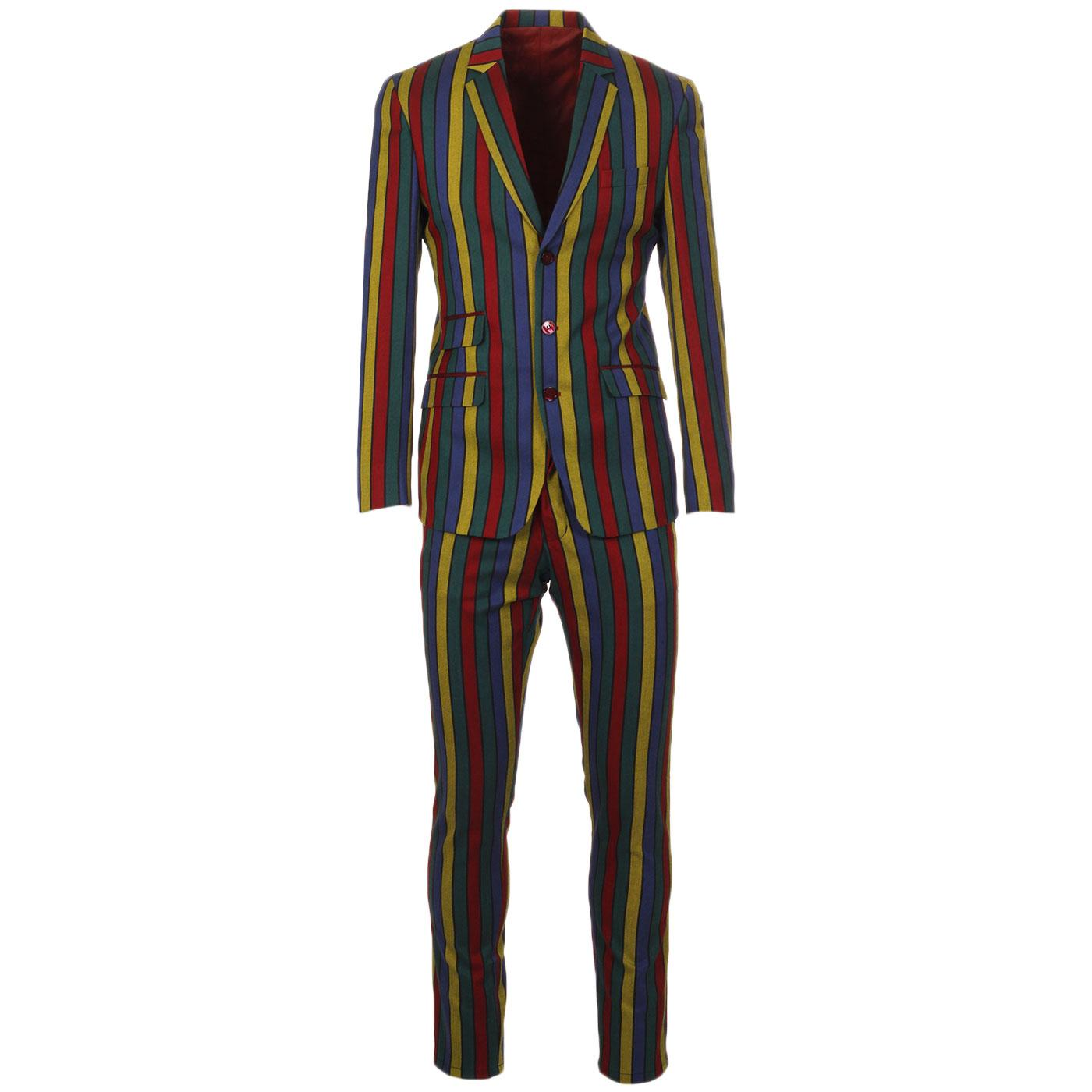 Madcap England Hendrix Stripe 60s Slim Mod Suit