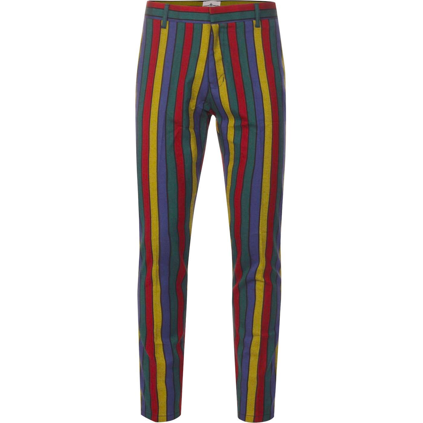 Hendrix Stripe MADCAP ENGLAND Retro Slim Trousers
