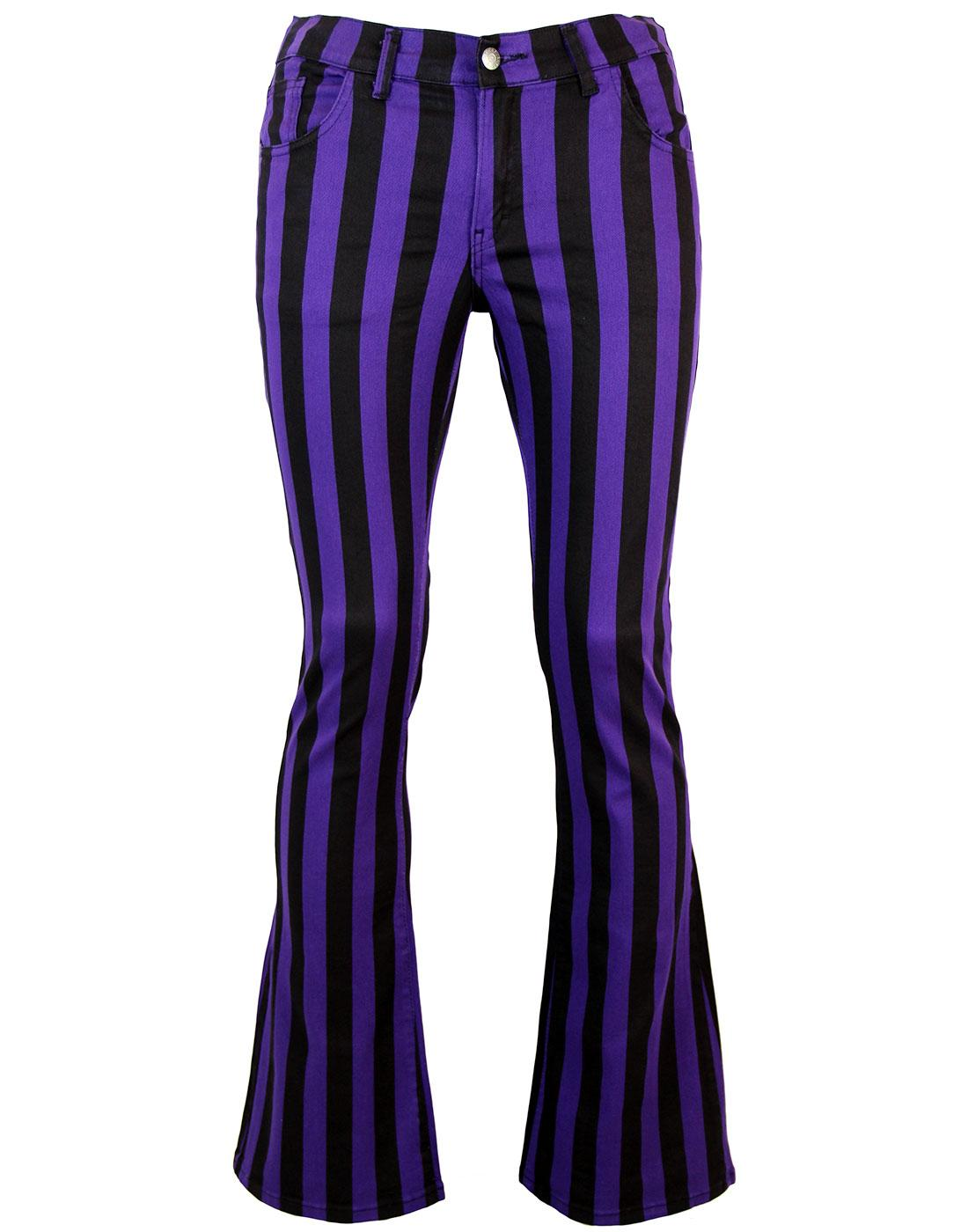 Holy Roller - Retro 60s Striped 70s Indie Flares P
