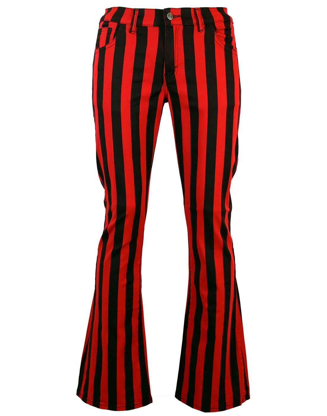 Holy Roller - Retro 60s Striped 70s Indie Flares R