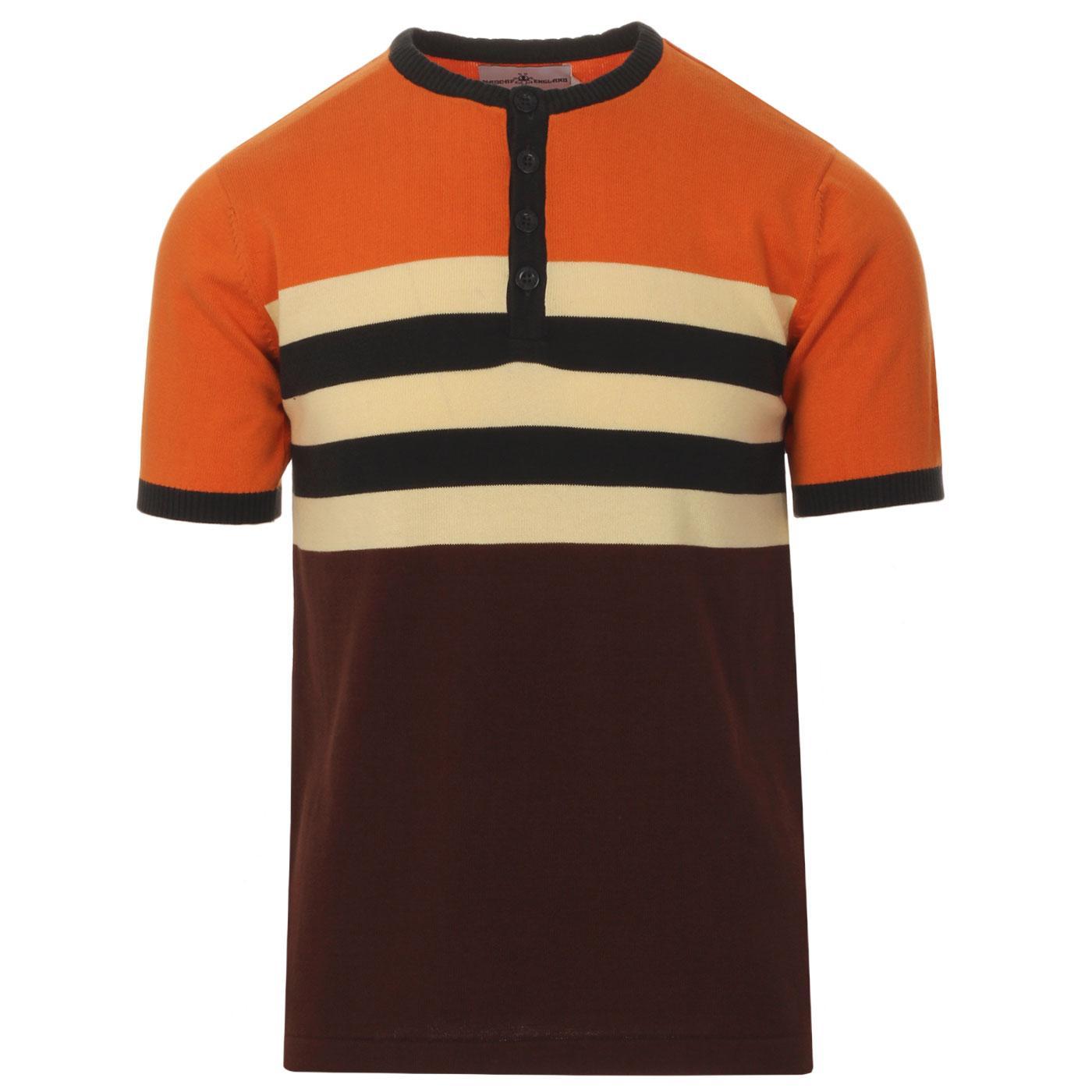 Hoople MADCAP ENGLAND Stripe Knit Grandad Top