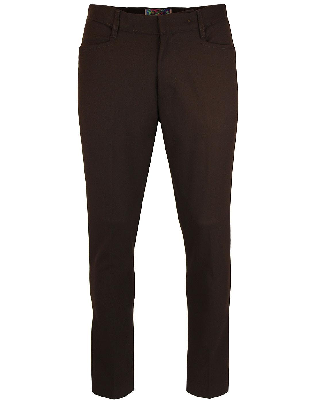 Logan Slim MADCAP ENGLAND Mod Hopsack Trousers Br