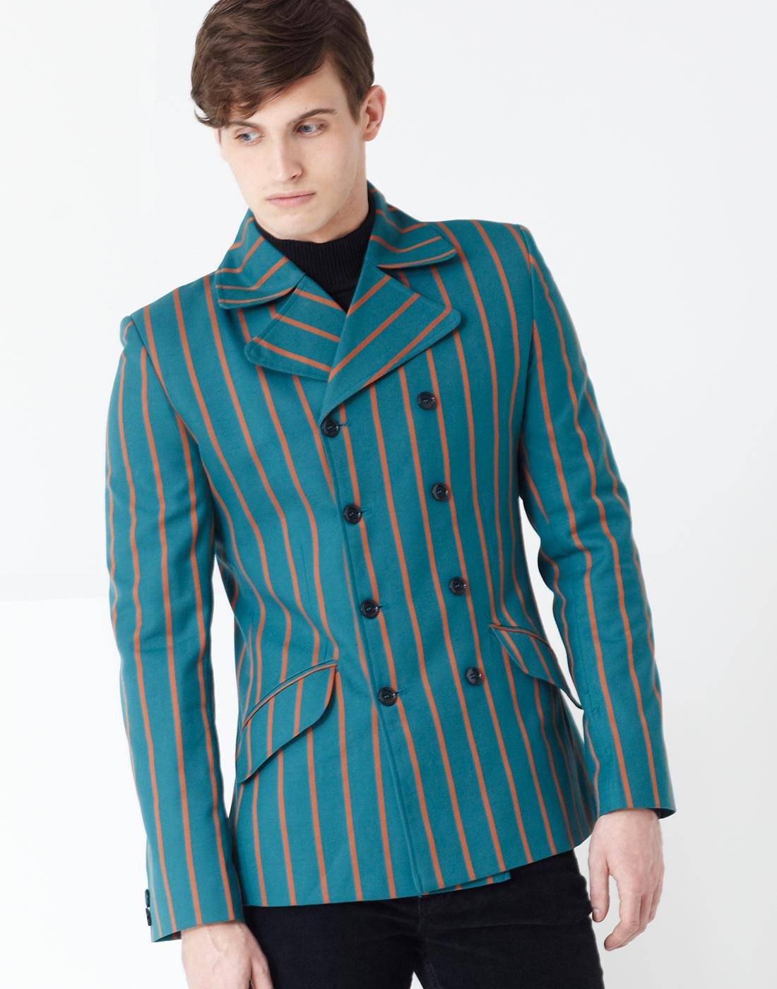 Howl MADCAP ENGLAND Double Breasted Stripe Blazer