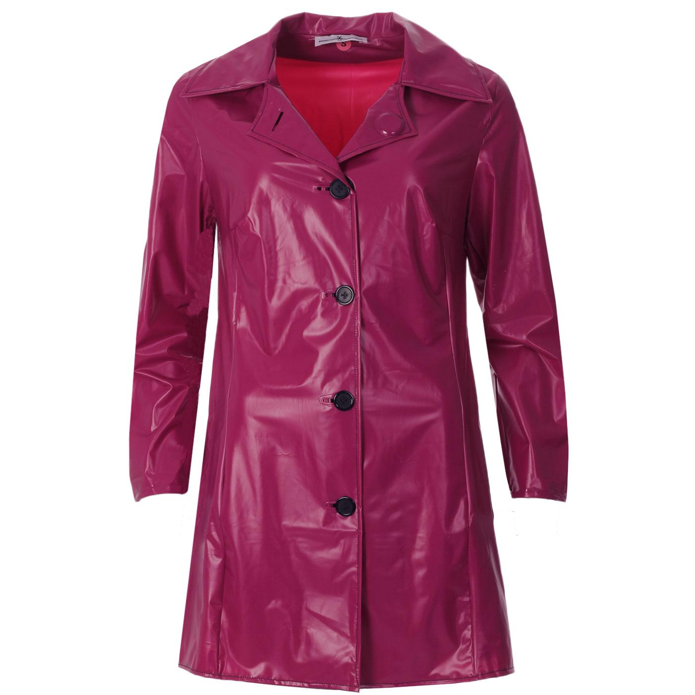Jackie MADCAP Made in England Retro 60s Raincoat M