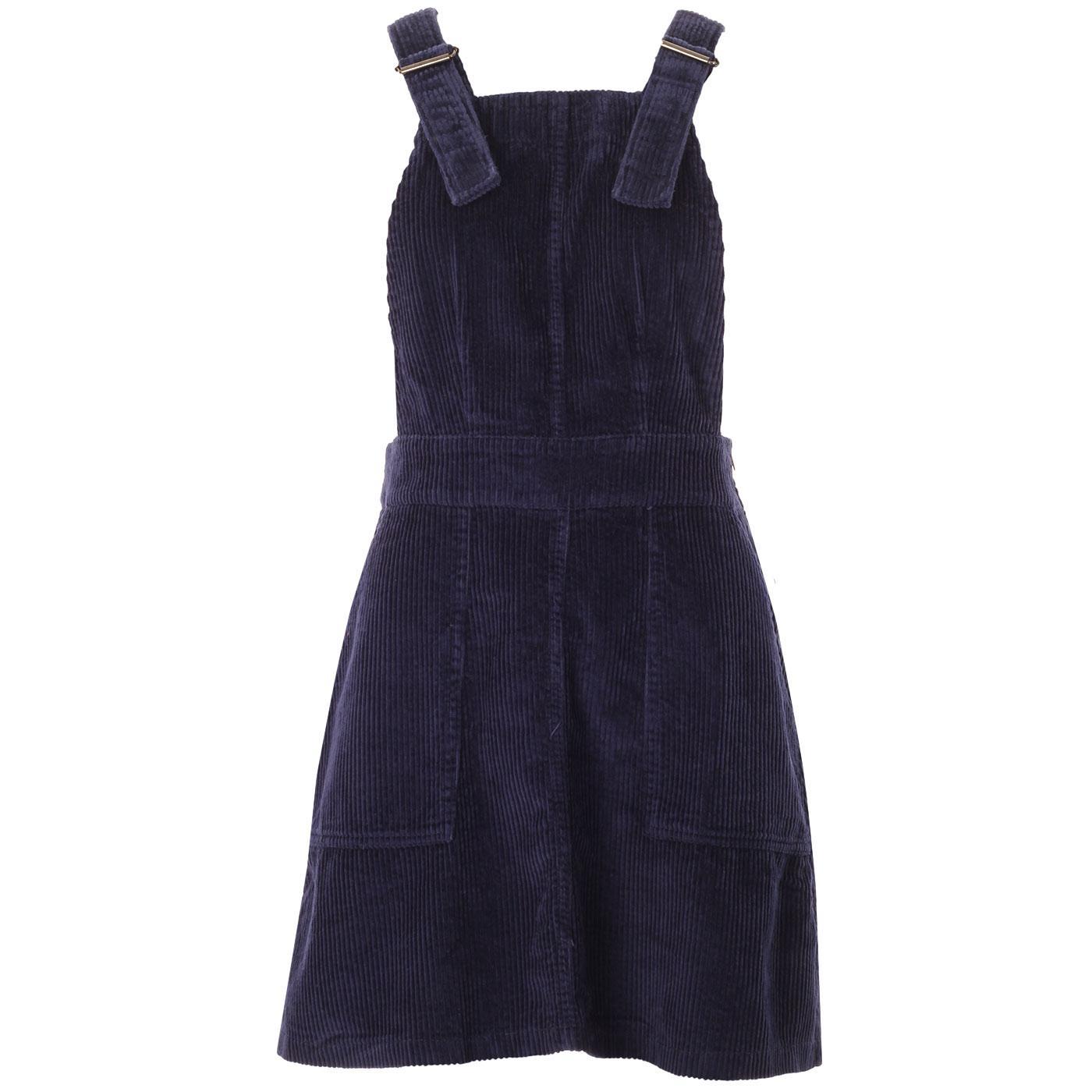 Marlo MADCAP ENGLAND 1960s Cord Pinafore Dress (N)
