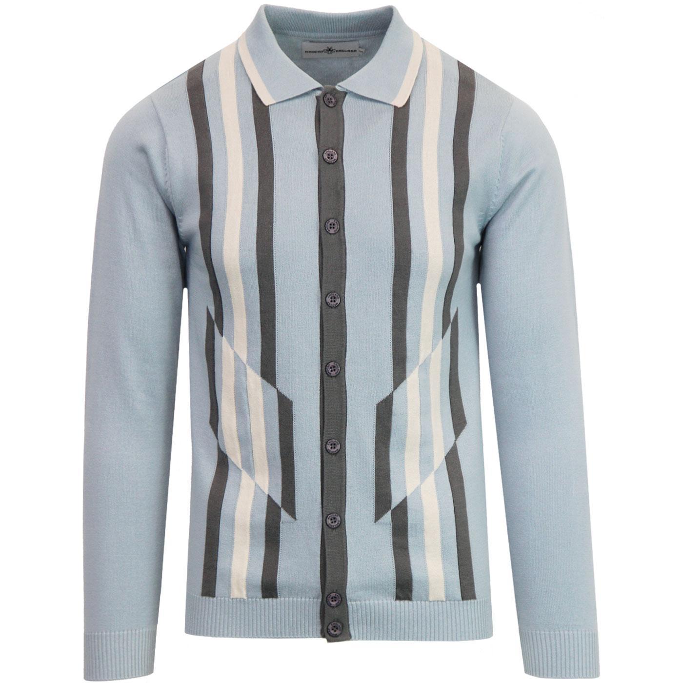 Kazimir MADCAP ENGLAND Abstract Stripe Polo (BF)